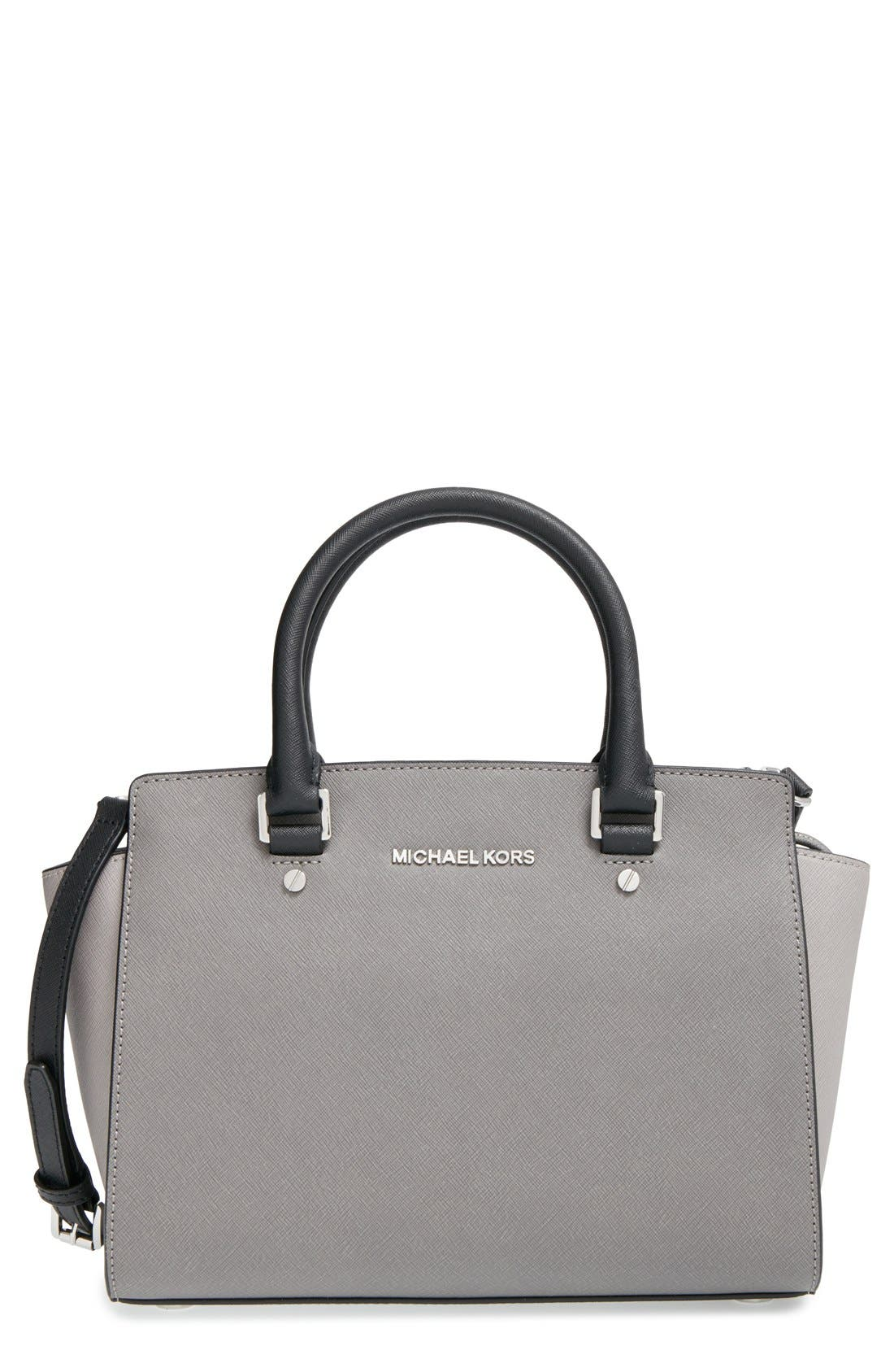 Main Image - MICHAEL Michael Kors 'Selma - Medium' Saffiano Leather Crossbody Bag