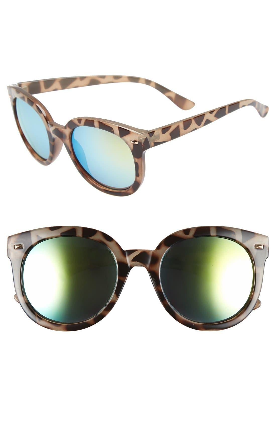 BP. 52mm Oversize Mirrored Sunglasses