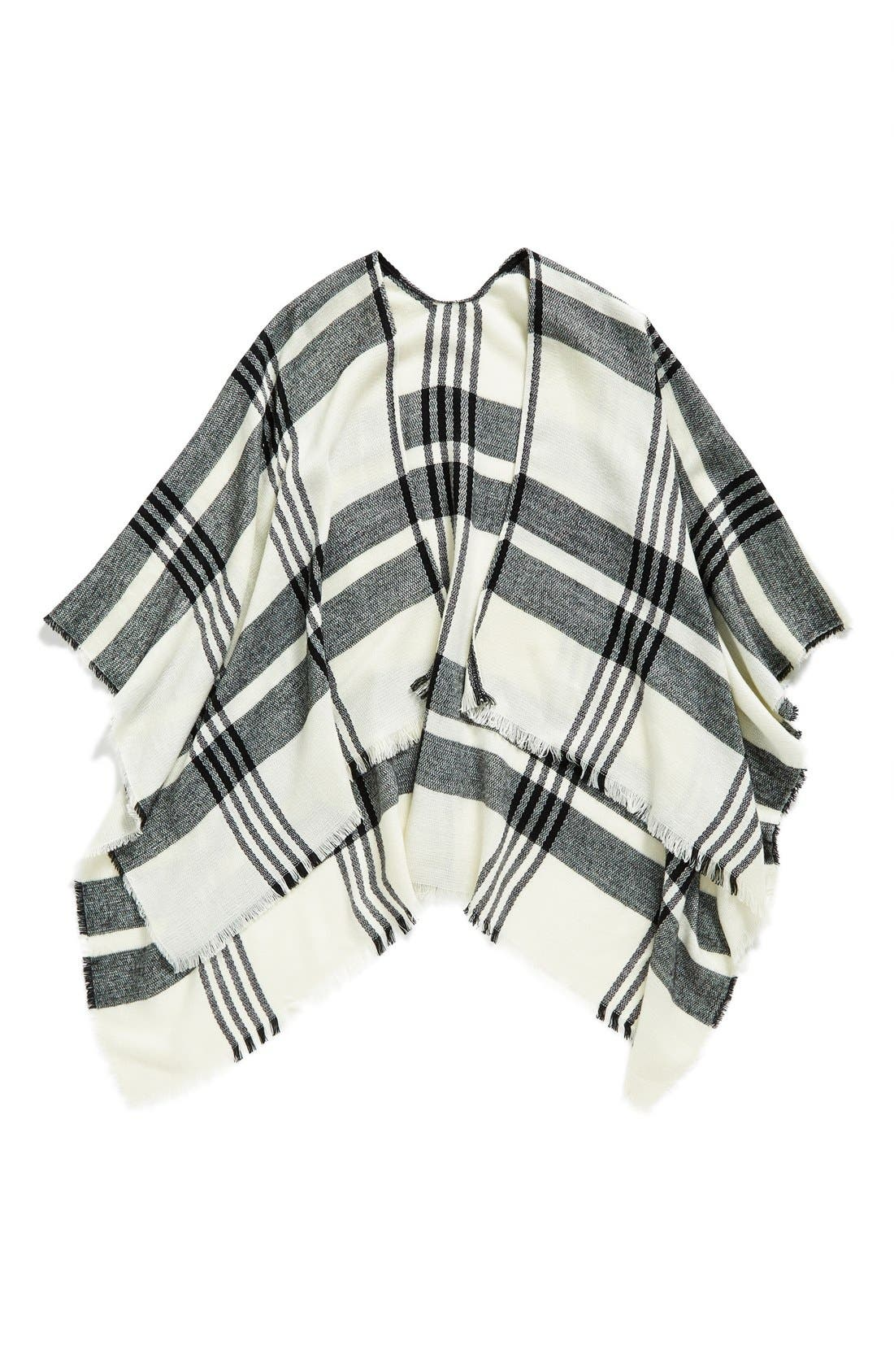 Alternate Image 4  - BP. Plaid Poncho