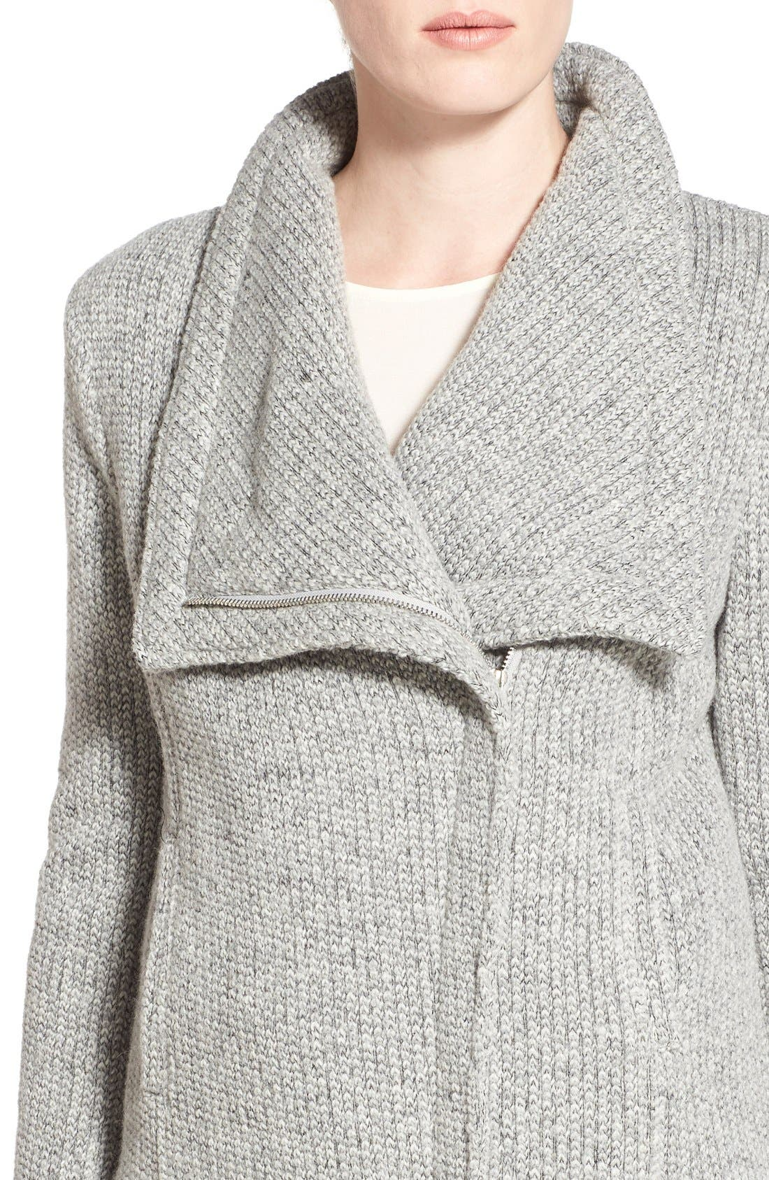 Alternate Image 4  - cupcakes and cashmere 'Rue' Drape Collar Knit Jacket