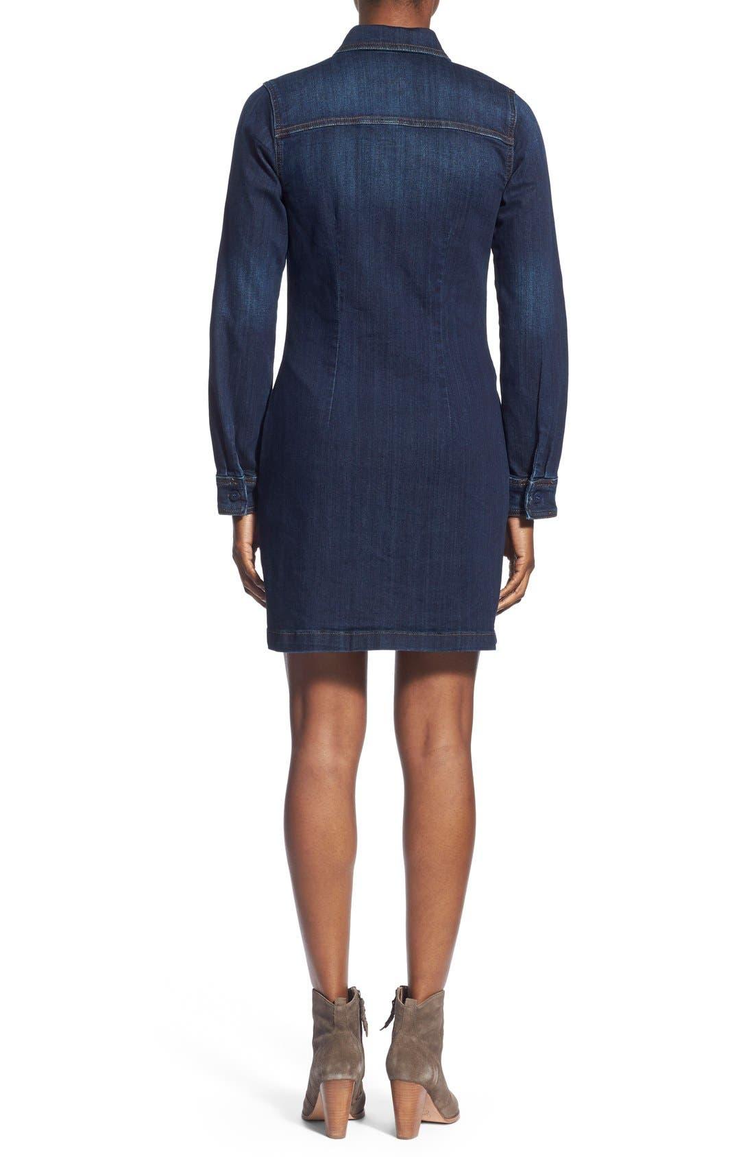 Alternate Image 2  - KUT from the Kloth 'Blake' Denim Shirt Dress
