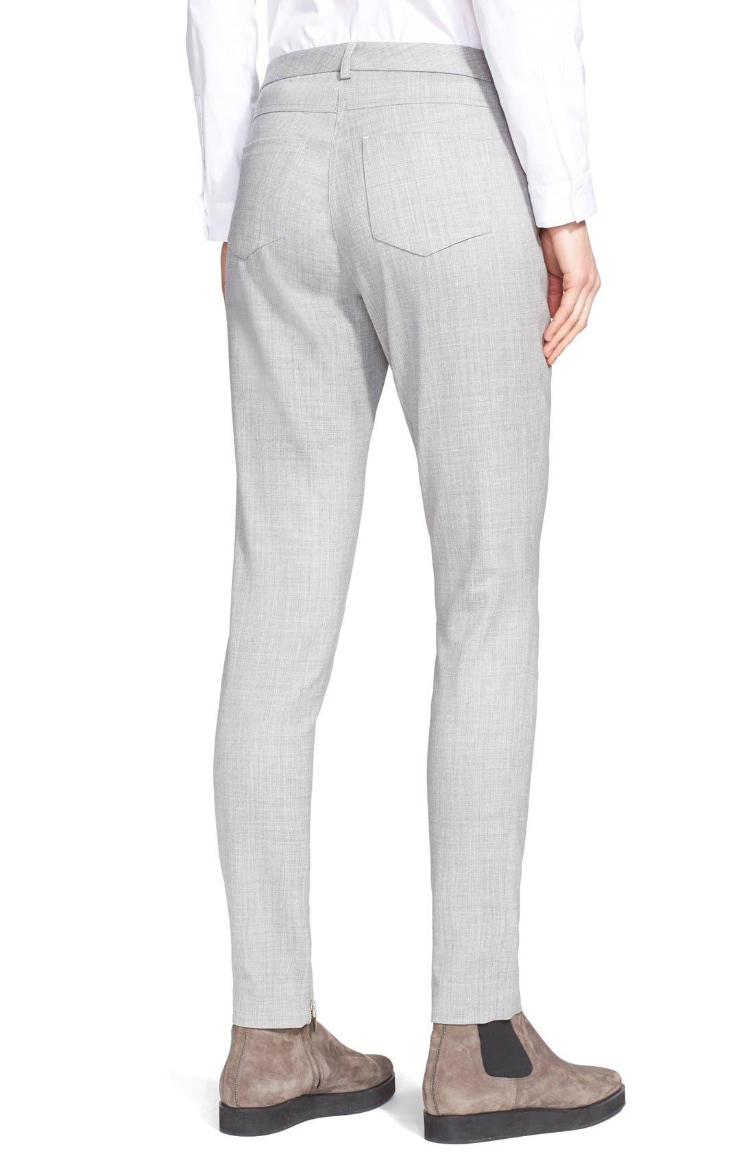 Alternate Image 2  - Fabiana Filippi Slim Lightweight Wool Pants
