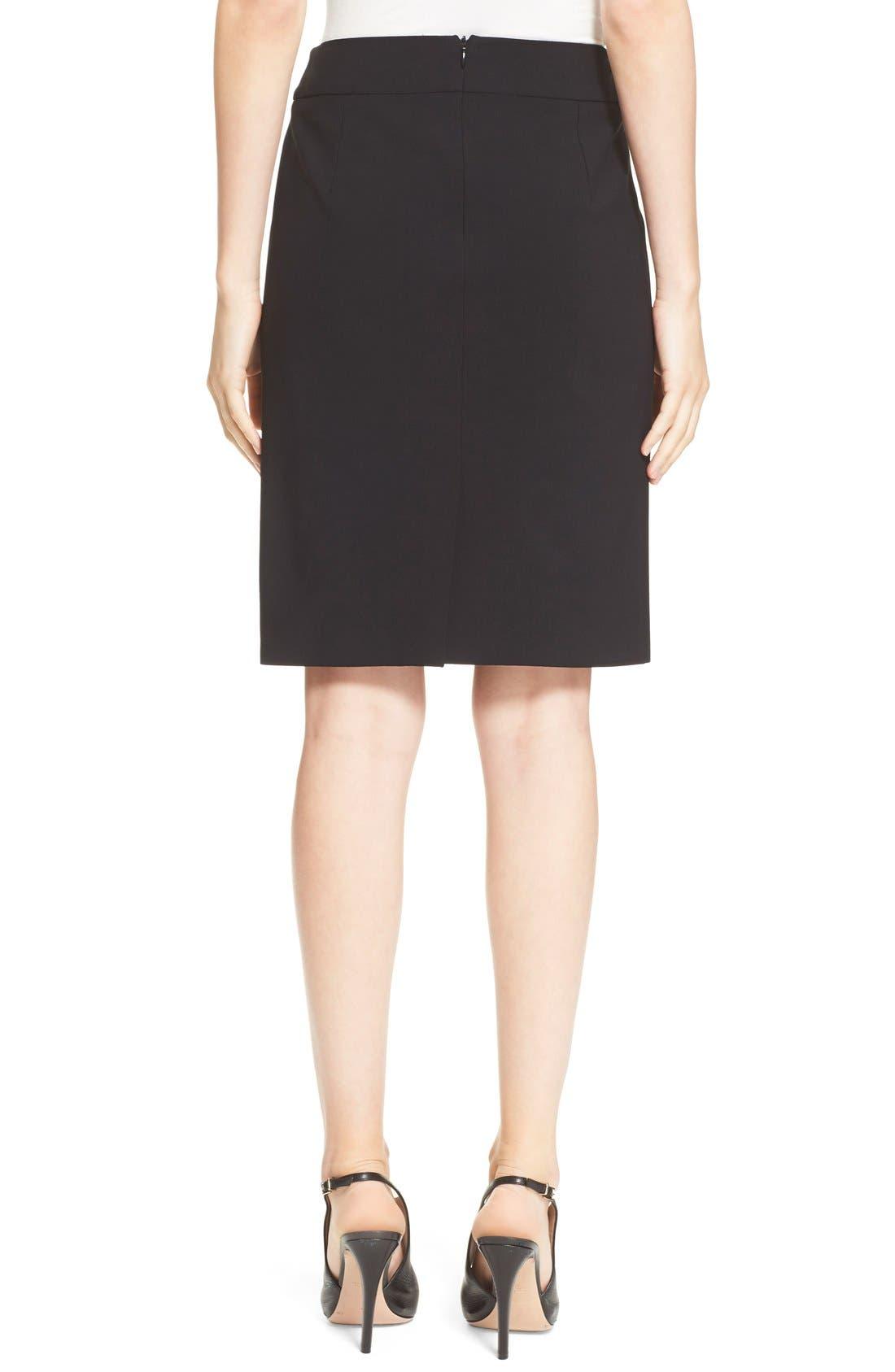 Alternate Image 2  - Armani Collezioni Featherweight Wool Pencil Skirt