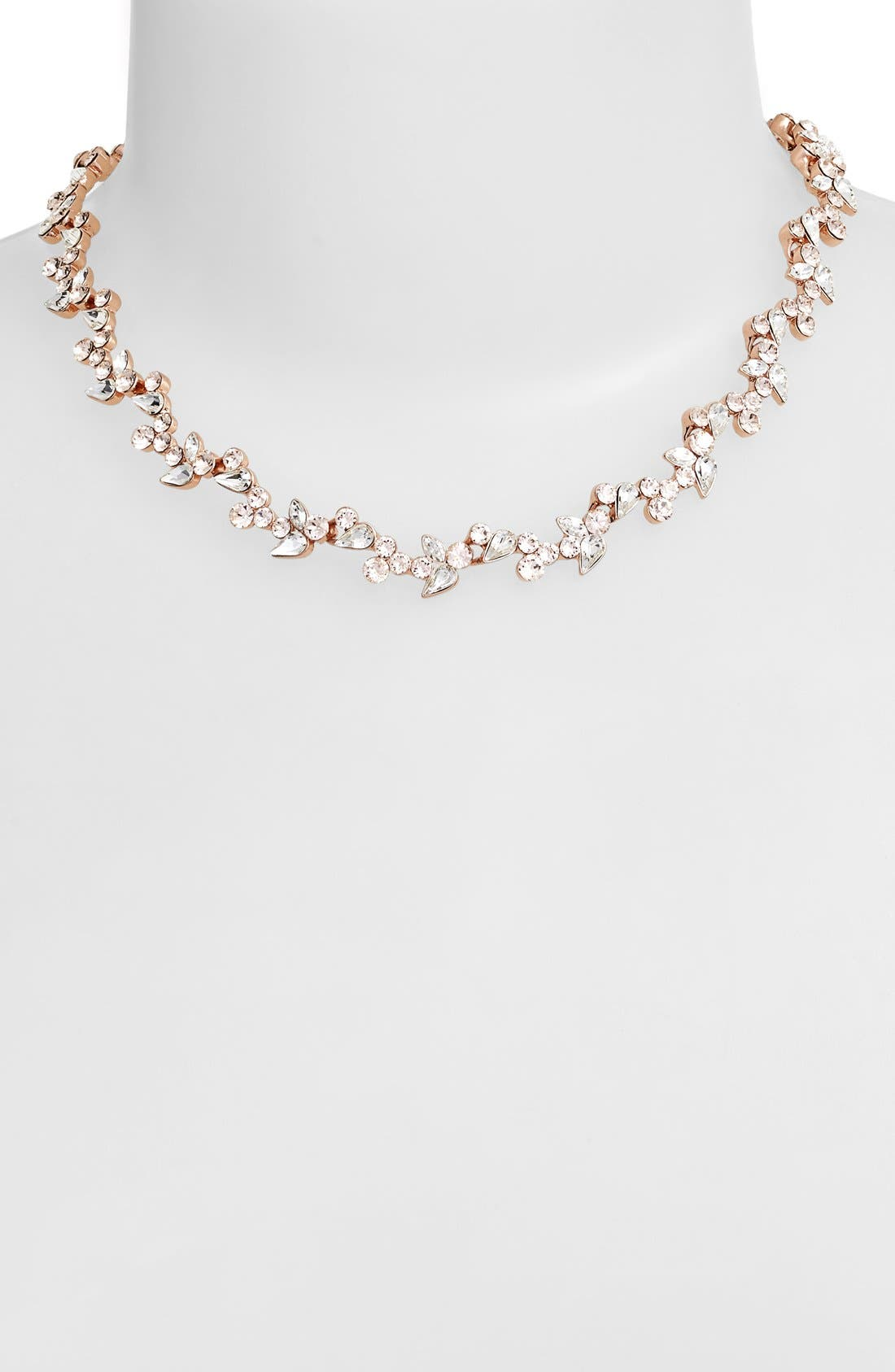 Alternate Image 2  - Givnechy Floral Crystal Collar Necklace