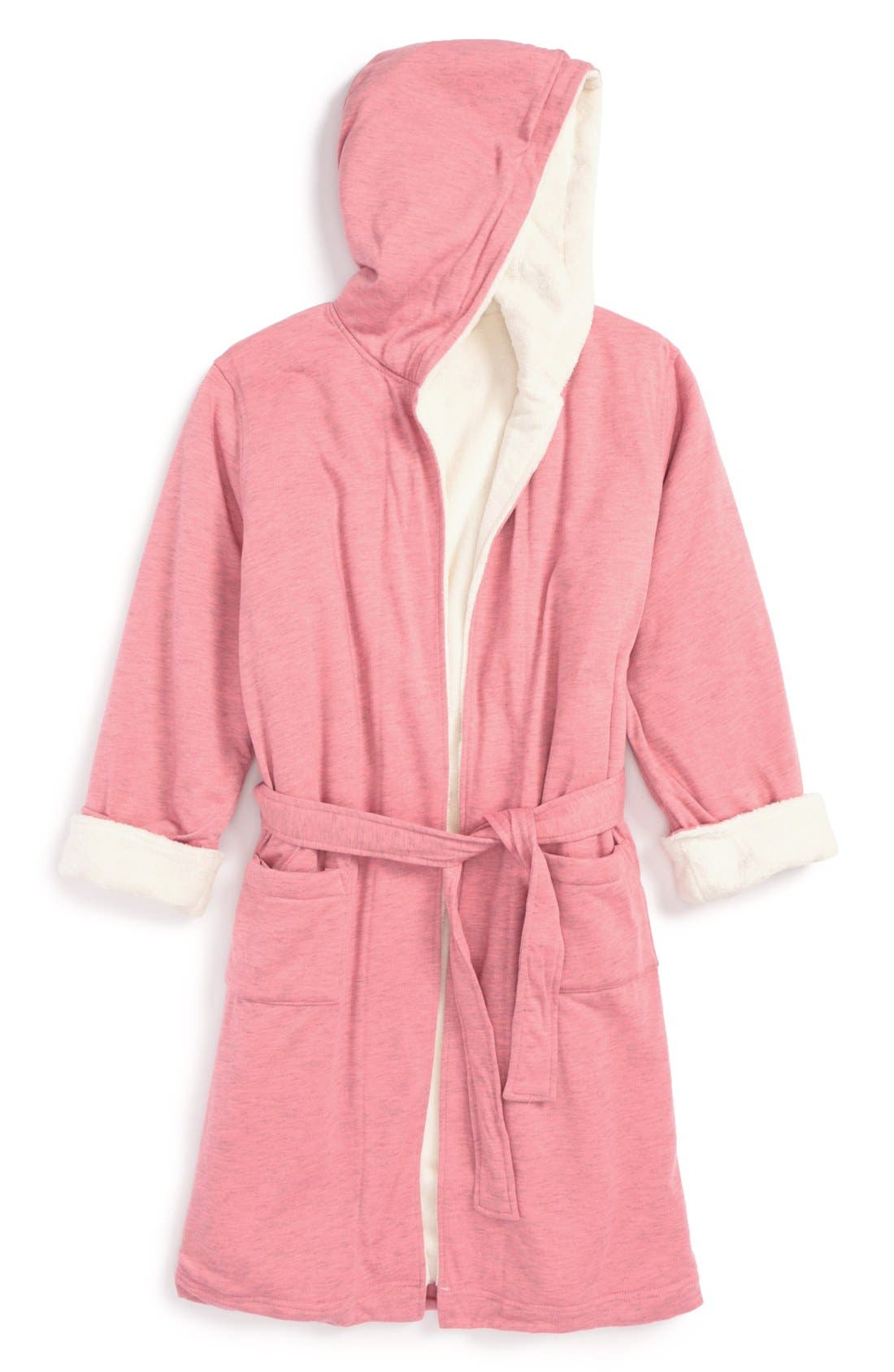Main Image - Tucker + Tate Fluffy Hooded Robe (Little Girls & Big Girls)