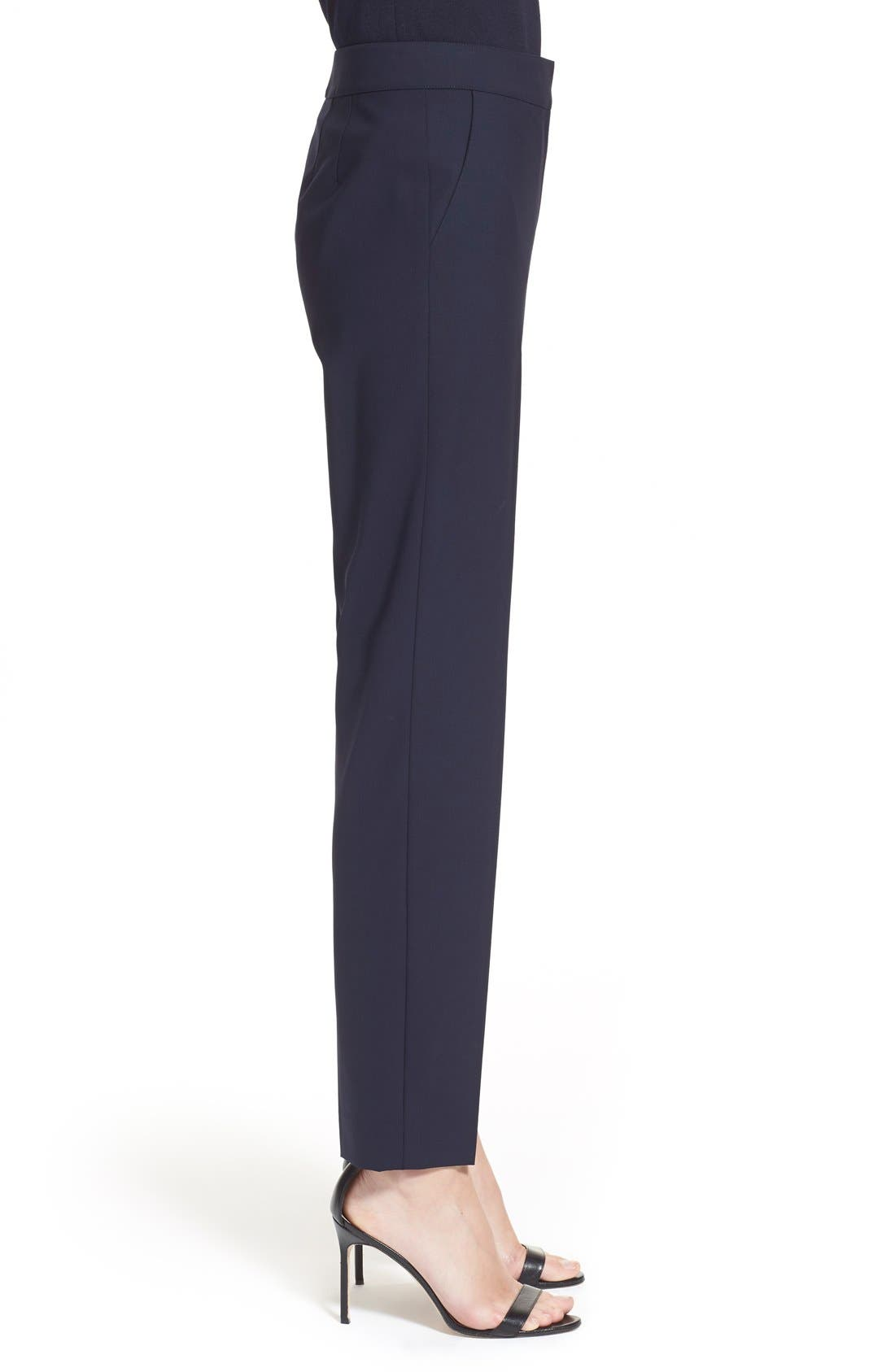 Alternate Image 4  - St. John Collection 'Emma' Tropical Wool Crop Pants
