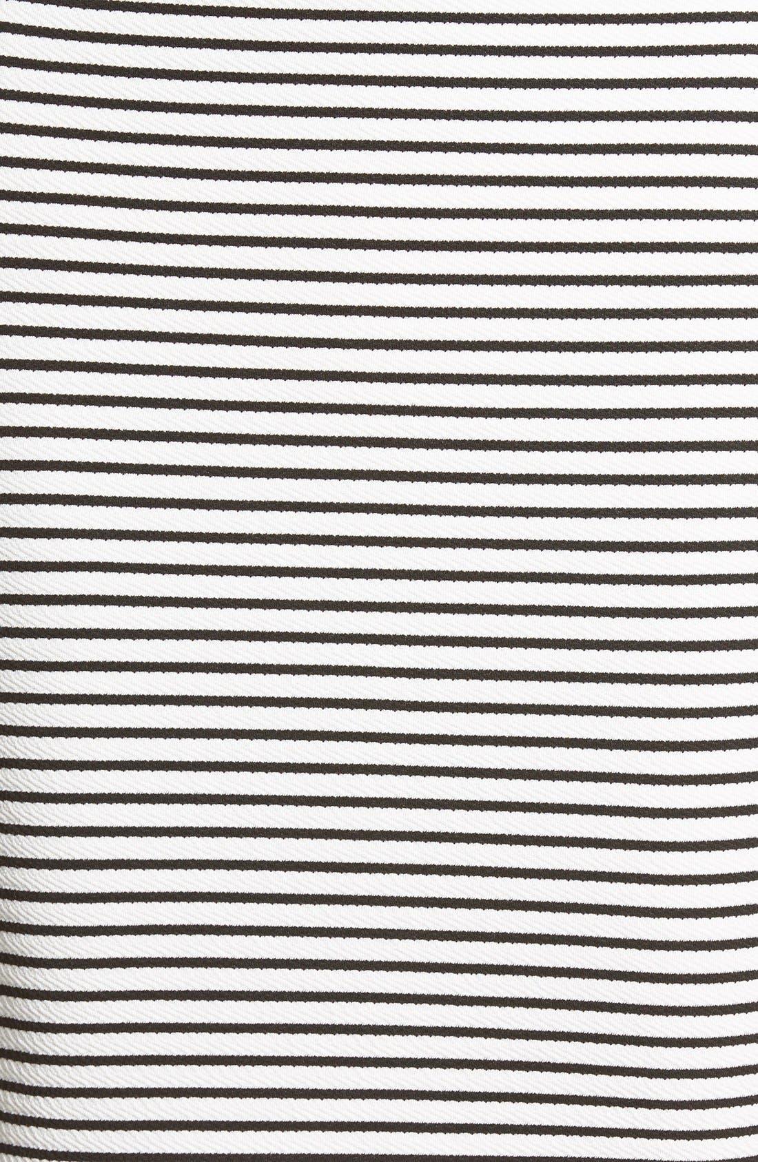Alternate Image 5  - Missguided Stripe Longline Midi Skirt