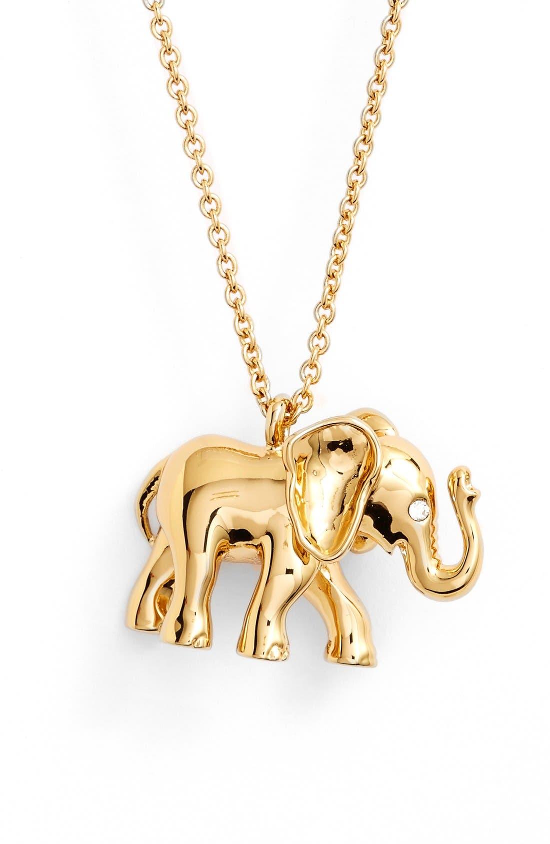 Alternate Image 1 Selected - kate spade new york elephant pendant necklace