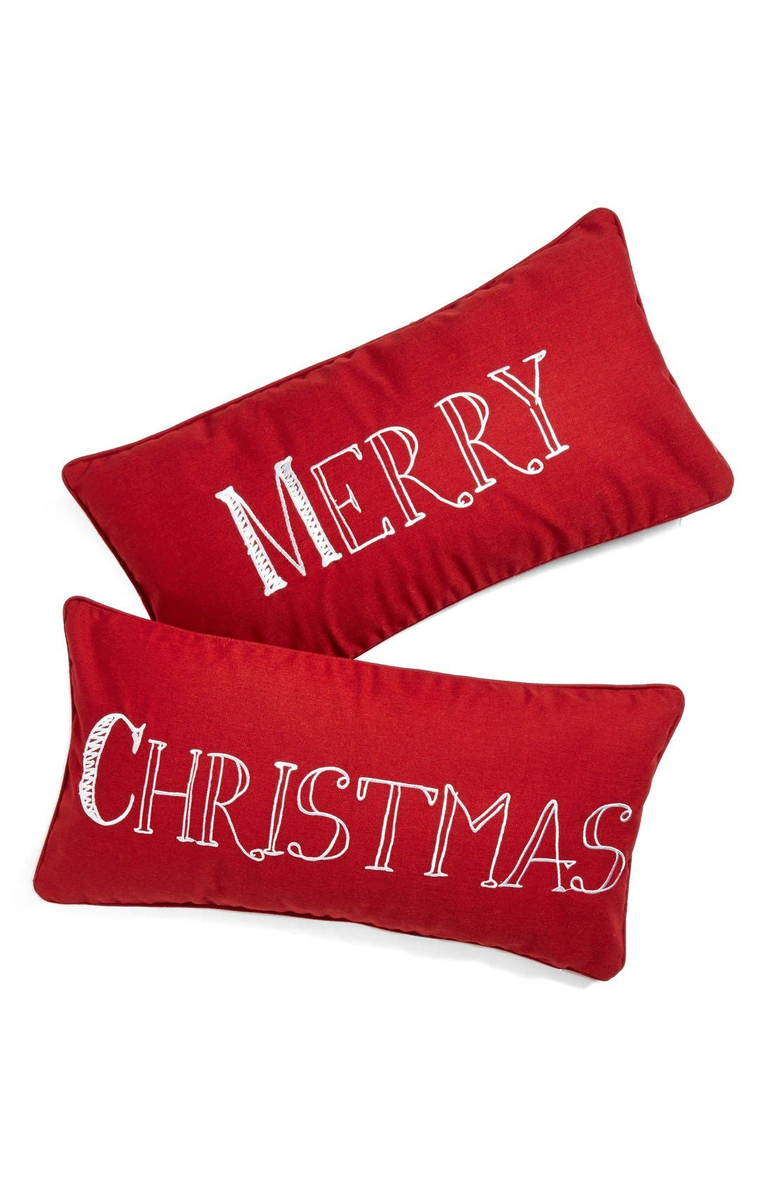 Alternate Image 2  - Levtex Embroidered Holiday Pillow