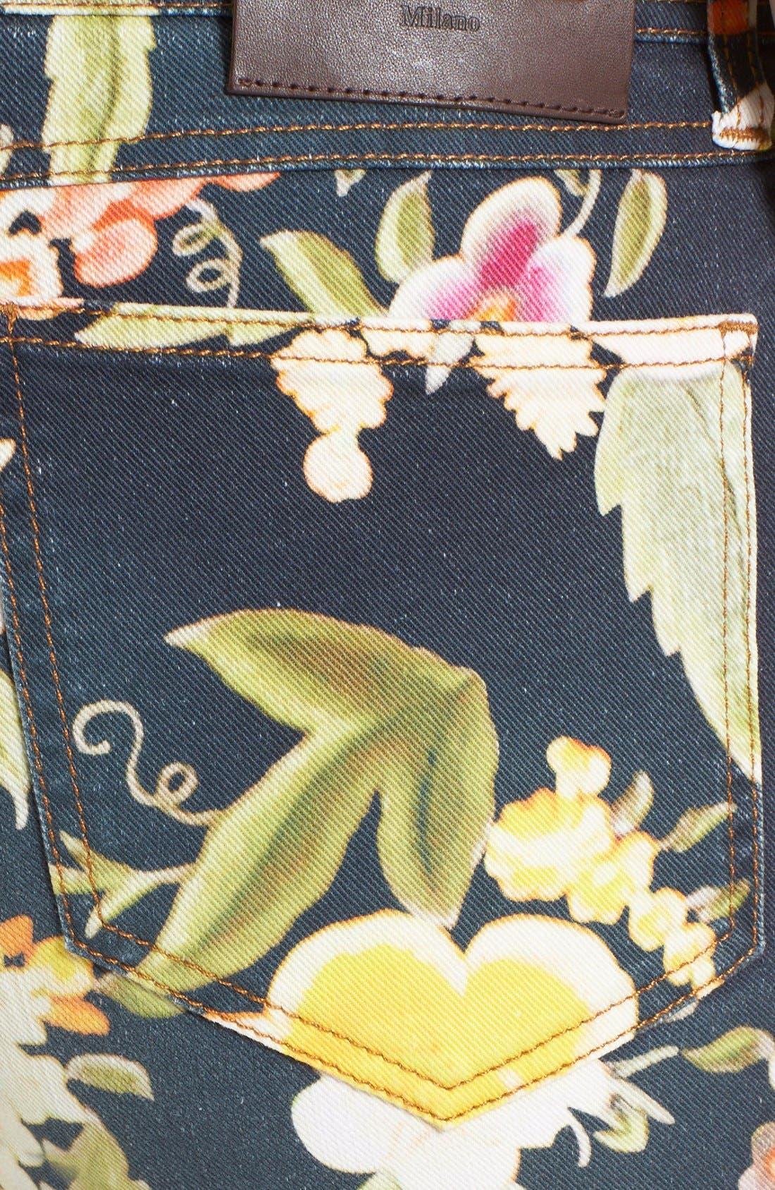 Alternate Image 3  - Etro Floral Print Skinny Fit Stretch Cotton Jeans