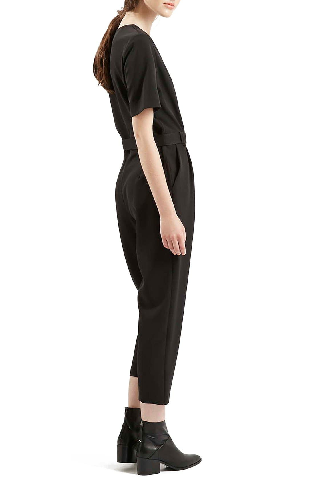 Alternate Image 3  - Topshop Belted Jumpsuit