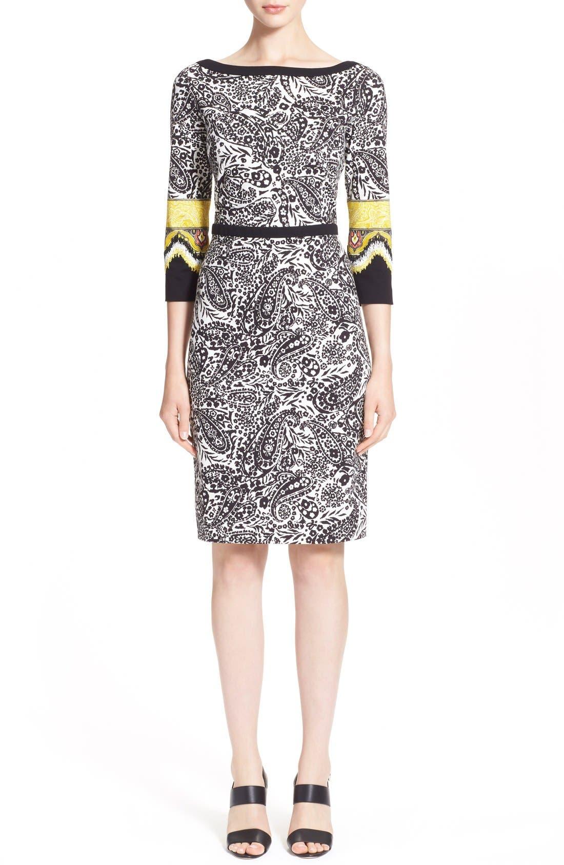 Alternate Image 1  - Etro Paisley Print Stretch Jersey Dress