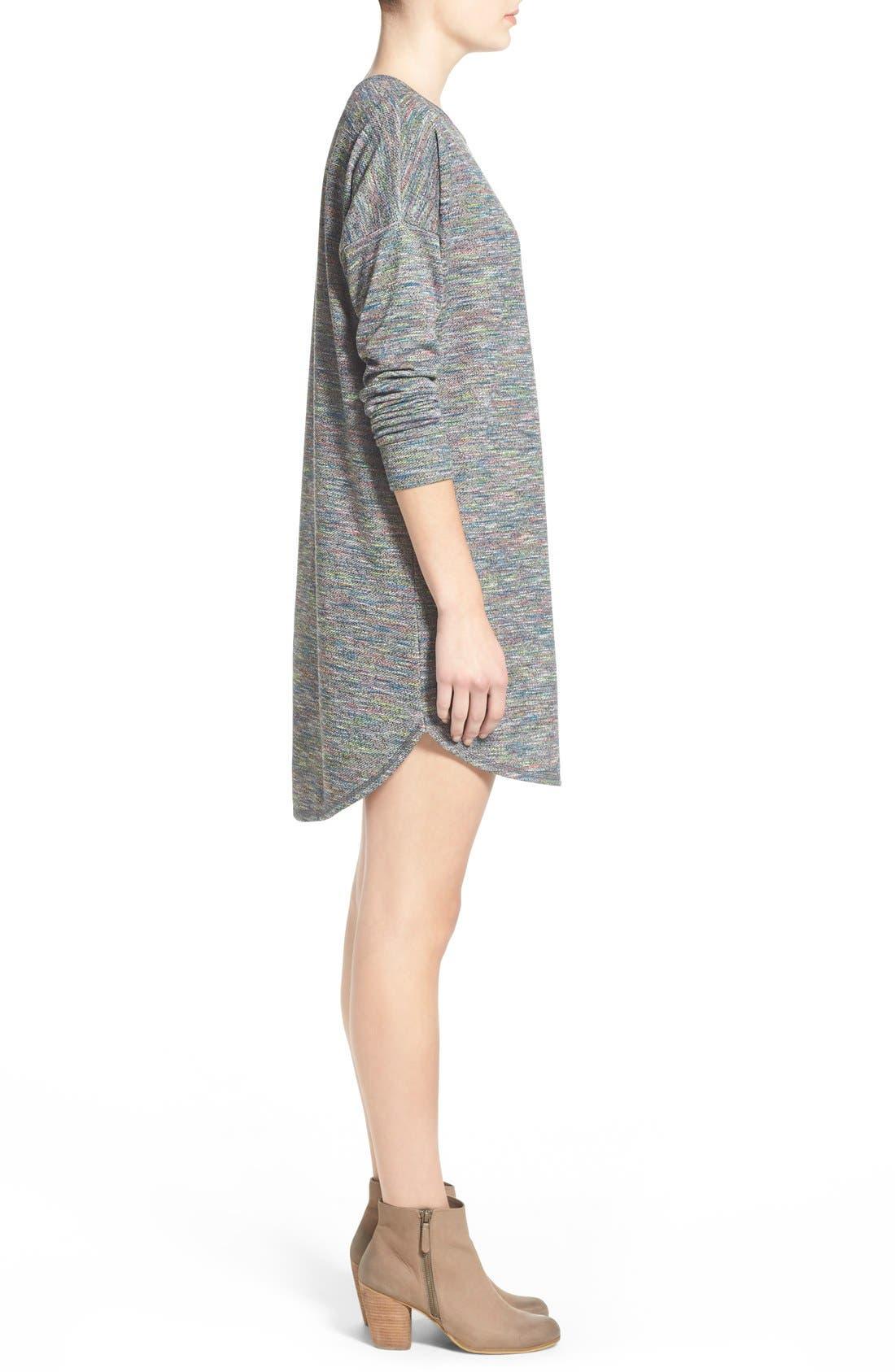 Alternate Image 4  - One Clothing Space Dye Sweater Dress