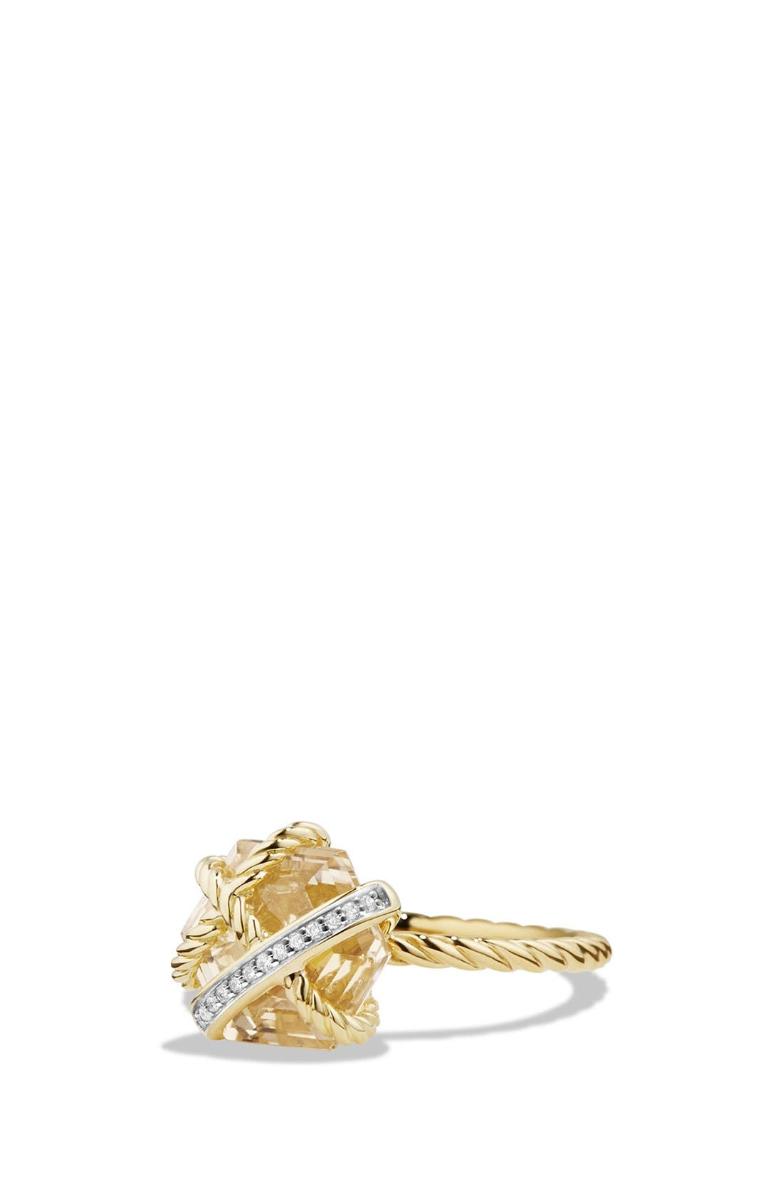 Alternate Image 1 Selected - David Yurman 'Cable Wrap' Ring with Diamonds