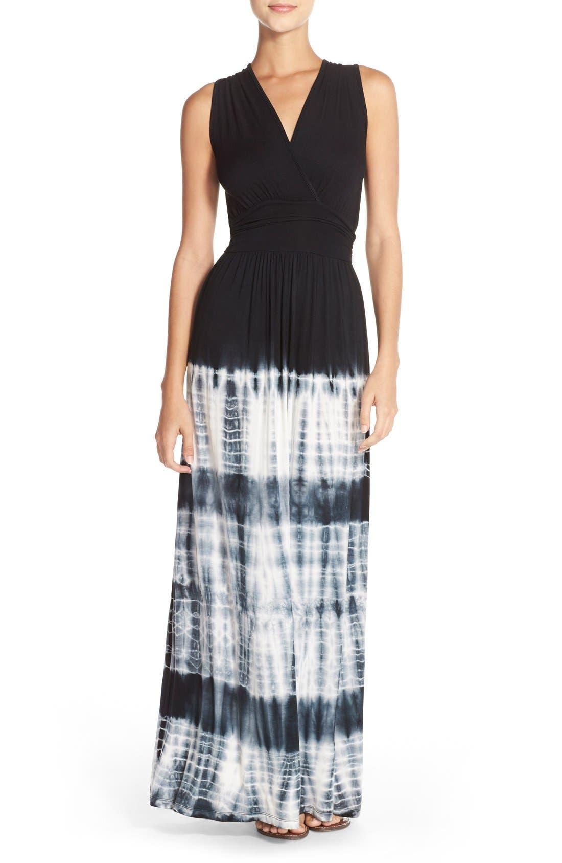 Alternate Image 1 Selected - Fraiche by J Tie Dye Ombré Jersey Maxi Dress