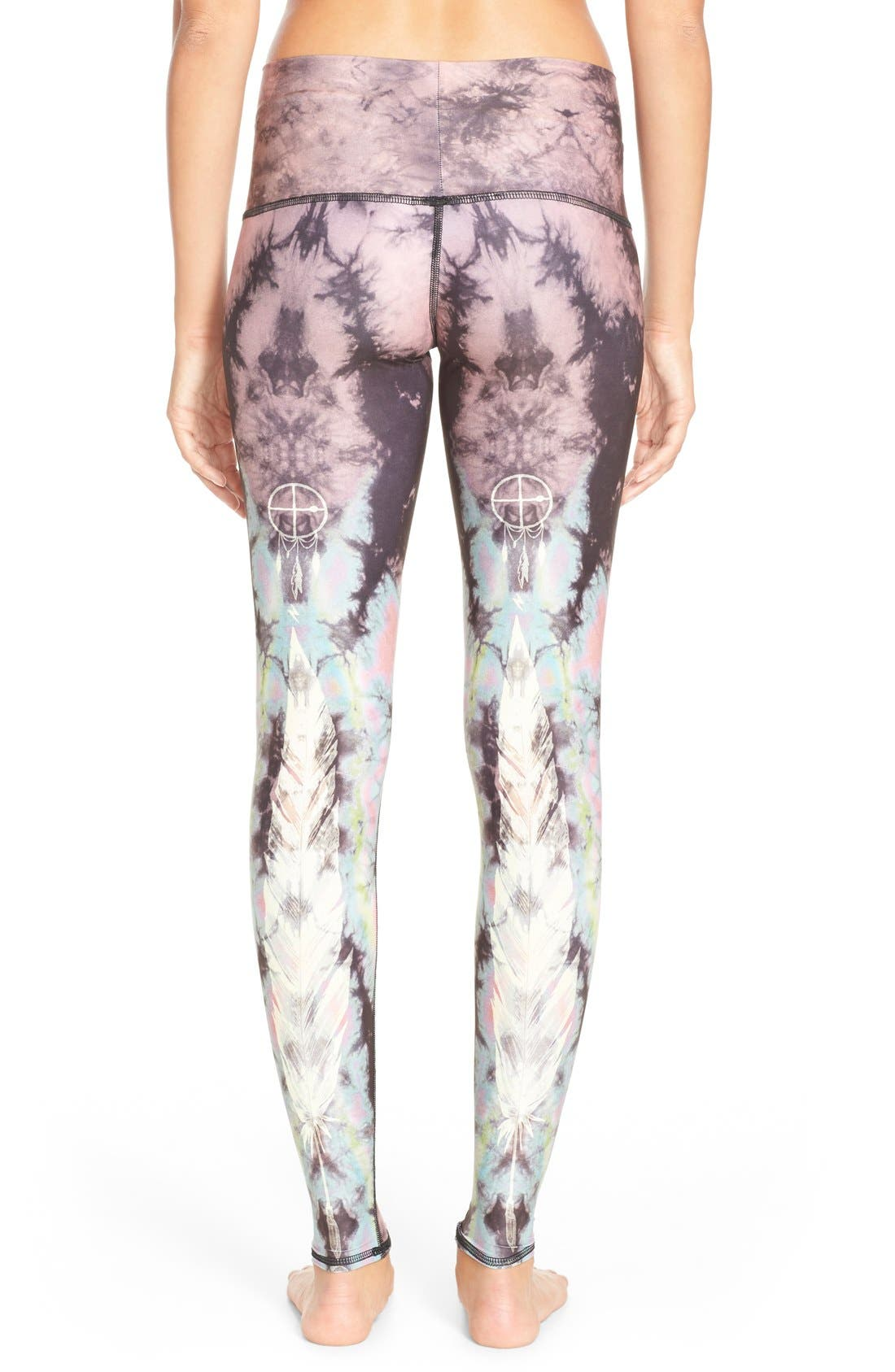 Alternate Image 2  - teeki 'Eagle Feather Hot Pant' Leggings