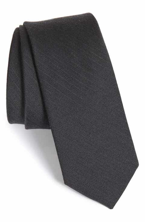 The Tie Bar Solid Wool   Silk Tie