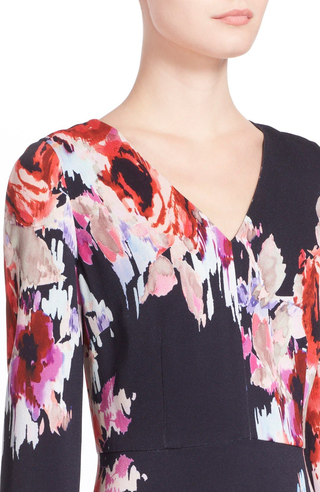 Alternate Image 4  - kate spade new york floral print v-neck dress