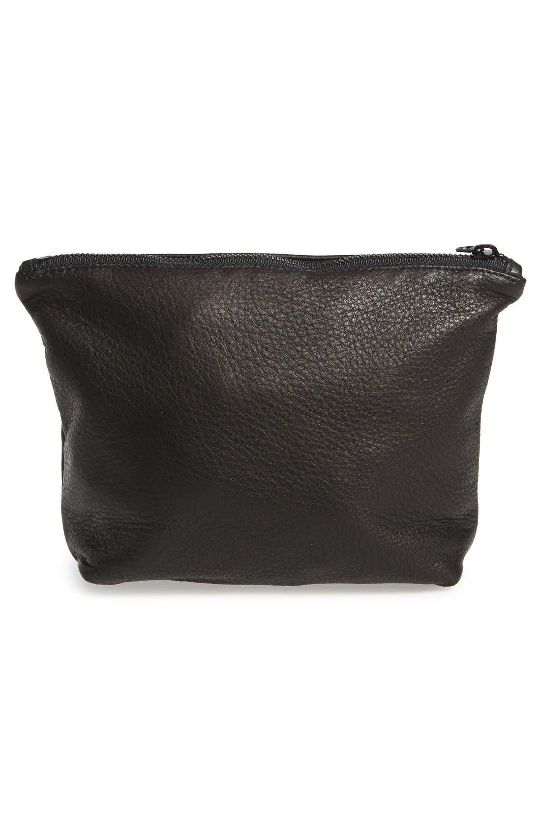 Alternate Image 3  - Baggu® Medium Leather Zip Pouch