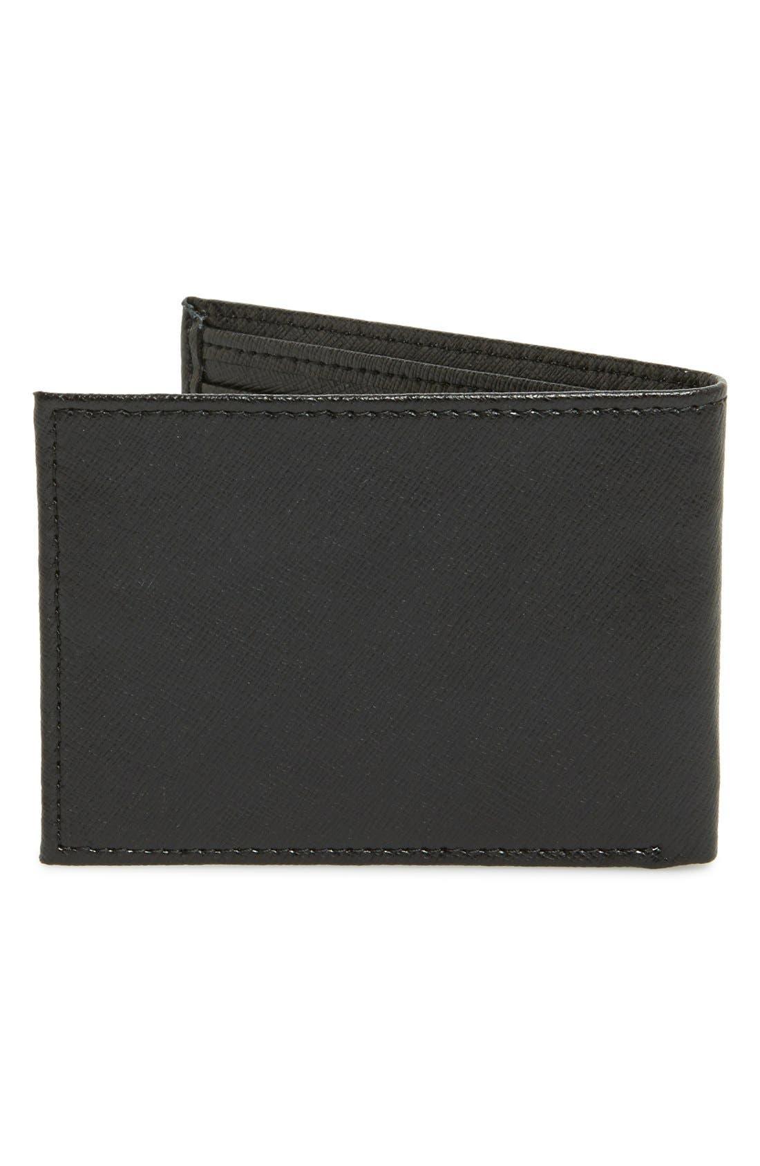 Alternate Image 3  - Nordstrom Men's Shop Large Saffiano Leather Bifold Wallet