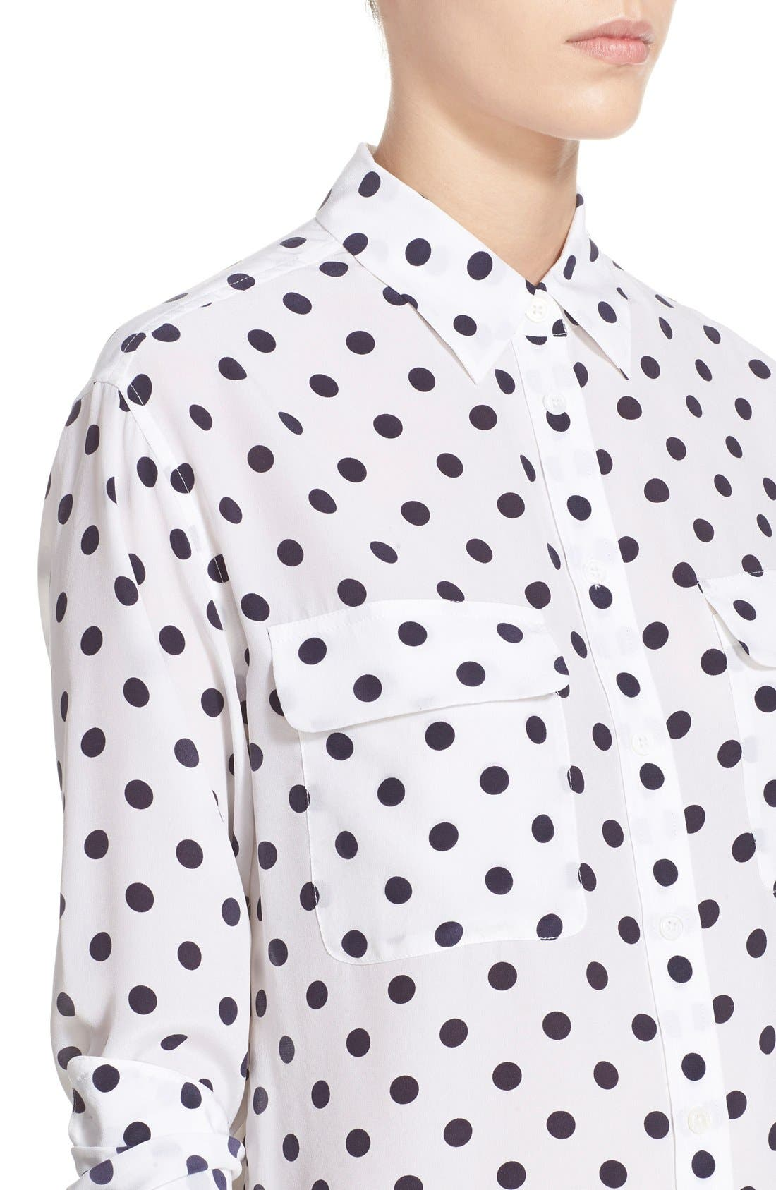Alternate Image 4  - Equipment 'Signature' Polka Dot Silk Shirt