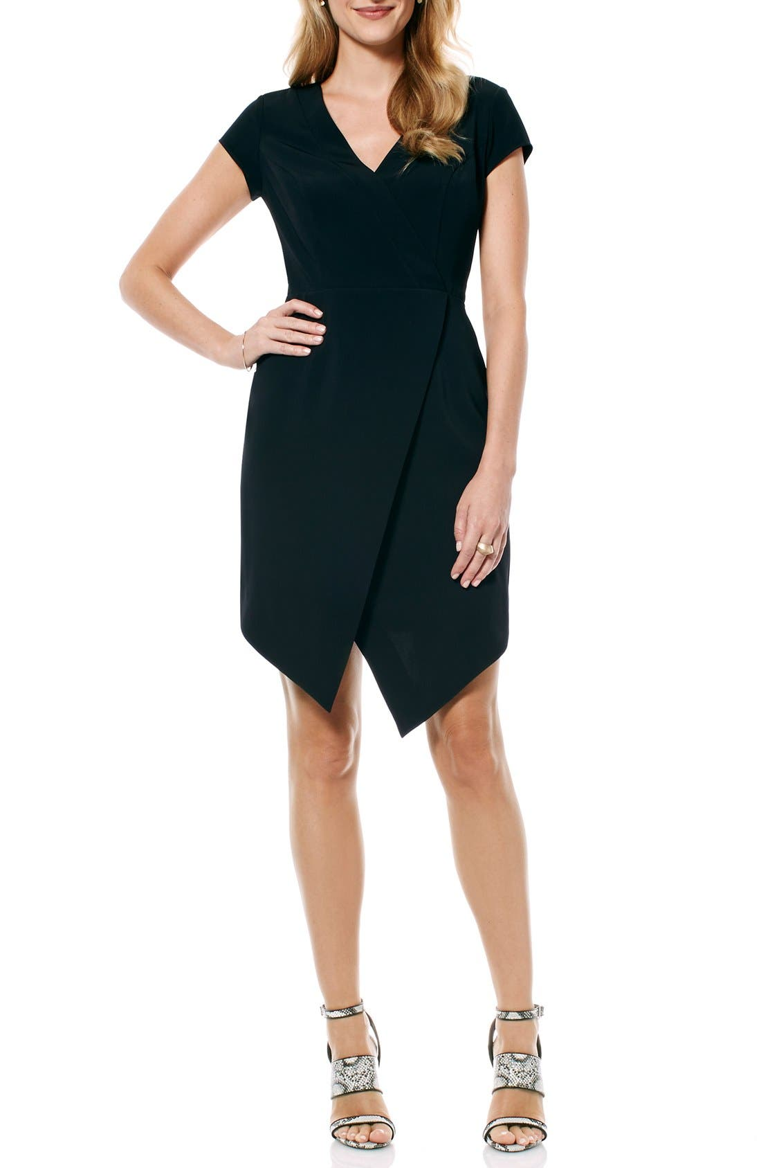 Alternate Image 1 Selected - Laundry by Shelli Segal Crepe Faux Wrap Dress