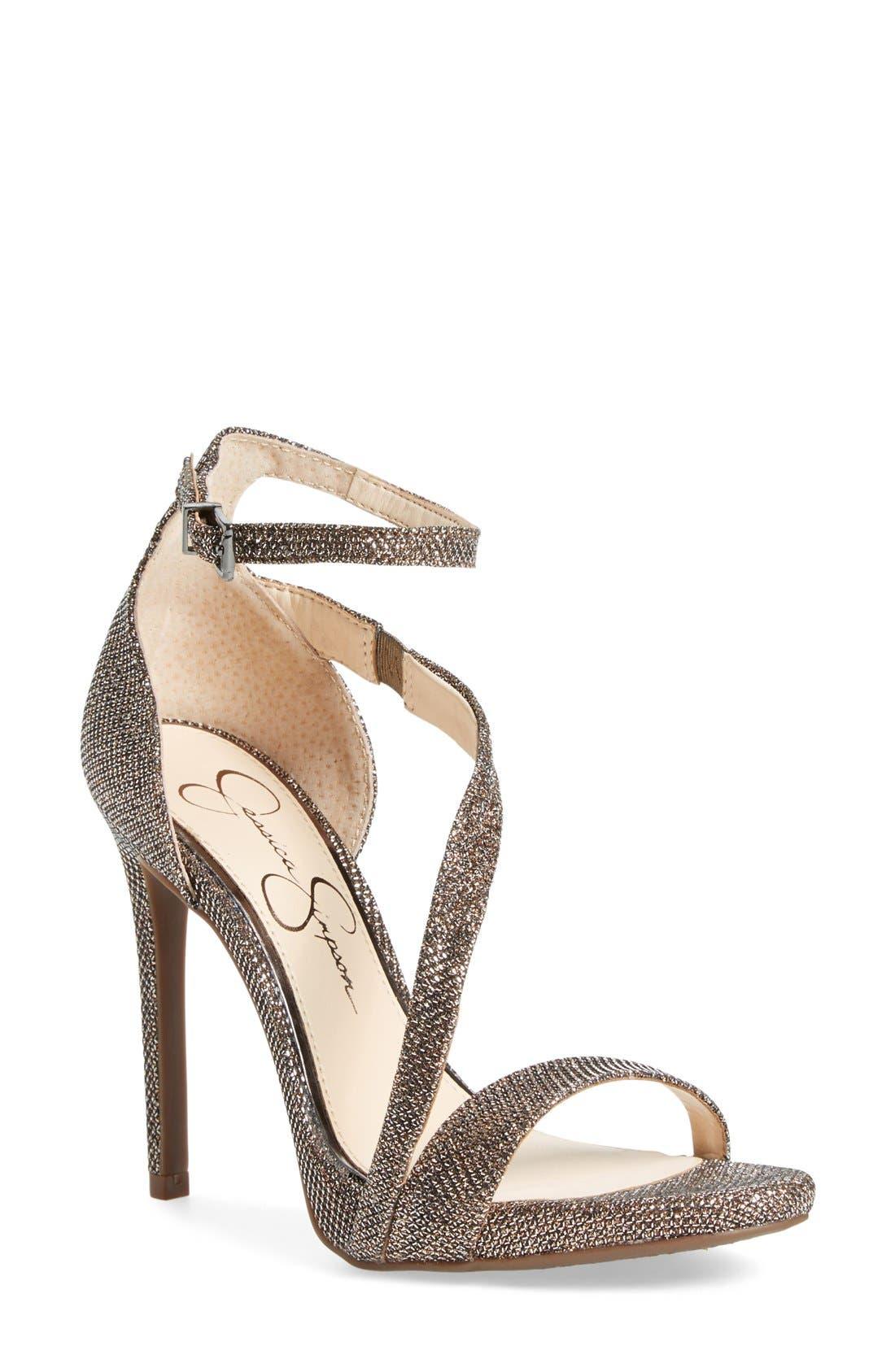 Alternate Image 1 Selected - Jessica Simpson 'Rayli' Patent Ankle Strap Sandal (Women)