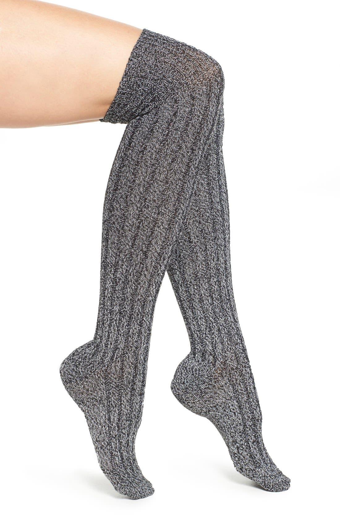 Alternate Image 1 Selected - Nordstrom Sparkle Knit Over the Knee Socks