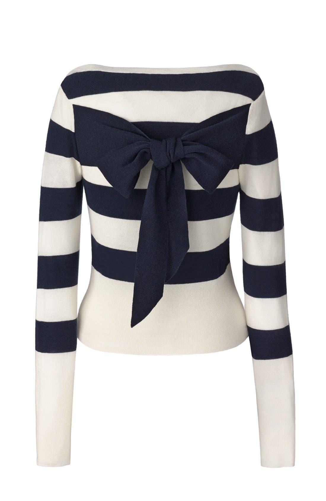 Alternate Image 6  - Olivia Palermo + Chelsea28 Stripe Wool & Cashmere Pullover