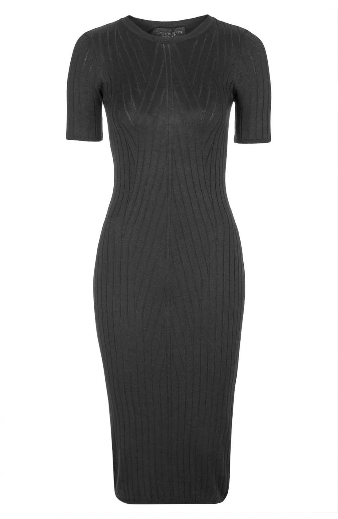 Alternate Image 3  - Topshop Travelling Ribbed Midi Dress (Petite)