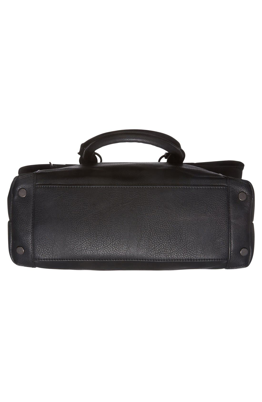 Alternate Image 6  - Sole Society 'Monze' Faux Leather Foldover Tote
