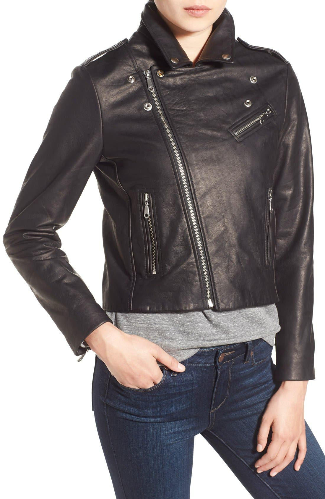 Alternate Image 4  - Rebecca Minkoff 'Nana' Leather Moto Jacket