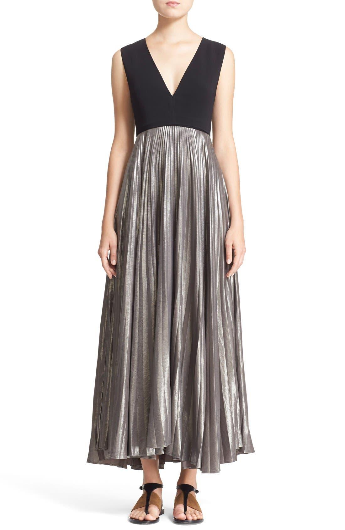 Alternate Image 1 Selected - A.L.C. 'Emilia' Pleated Midi Dress
