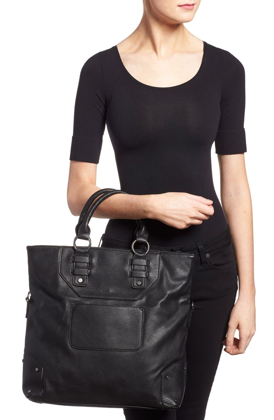 Alternate Image 2  - Sole Society 'Monze' Faux Leather Foldover Tote