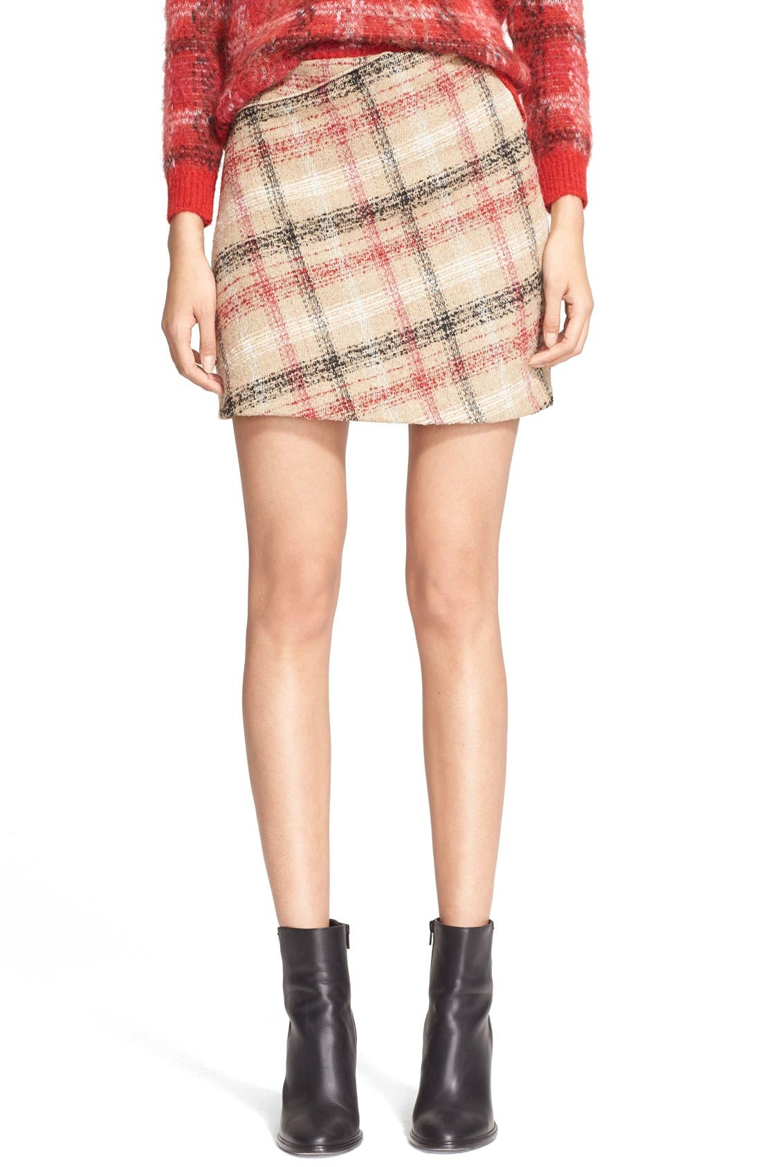 Main Image - Carven Plaid Skirt