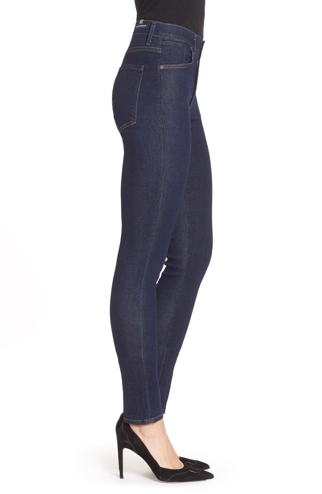 Alternate Image 3  - Citizens of Humanity 'Carlie' High Rise Skinny Jeans (Clean Blue)