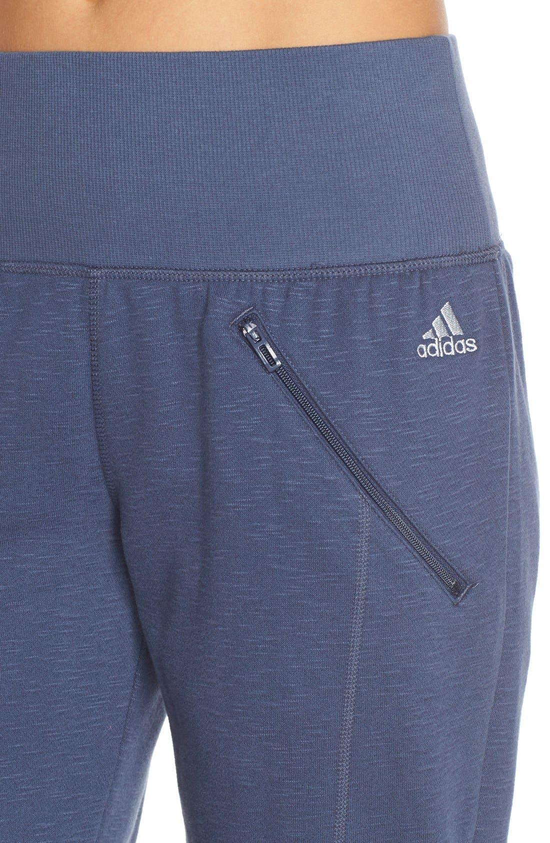 Alternate Image 4  - adidas 'Cozy' Fleece Jogger Pants