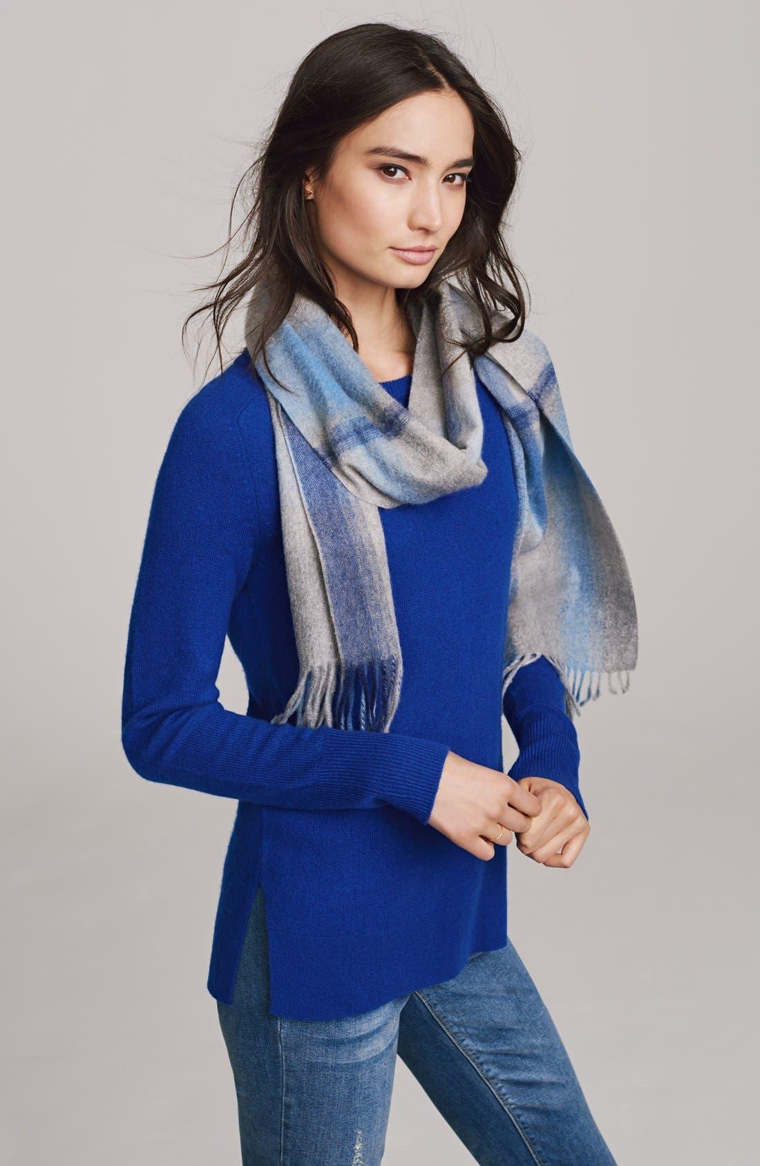 Alternate Image 9  - Halogen® Crewneck Lightweight Cashmere Sweater (Regular & Petite)