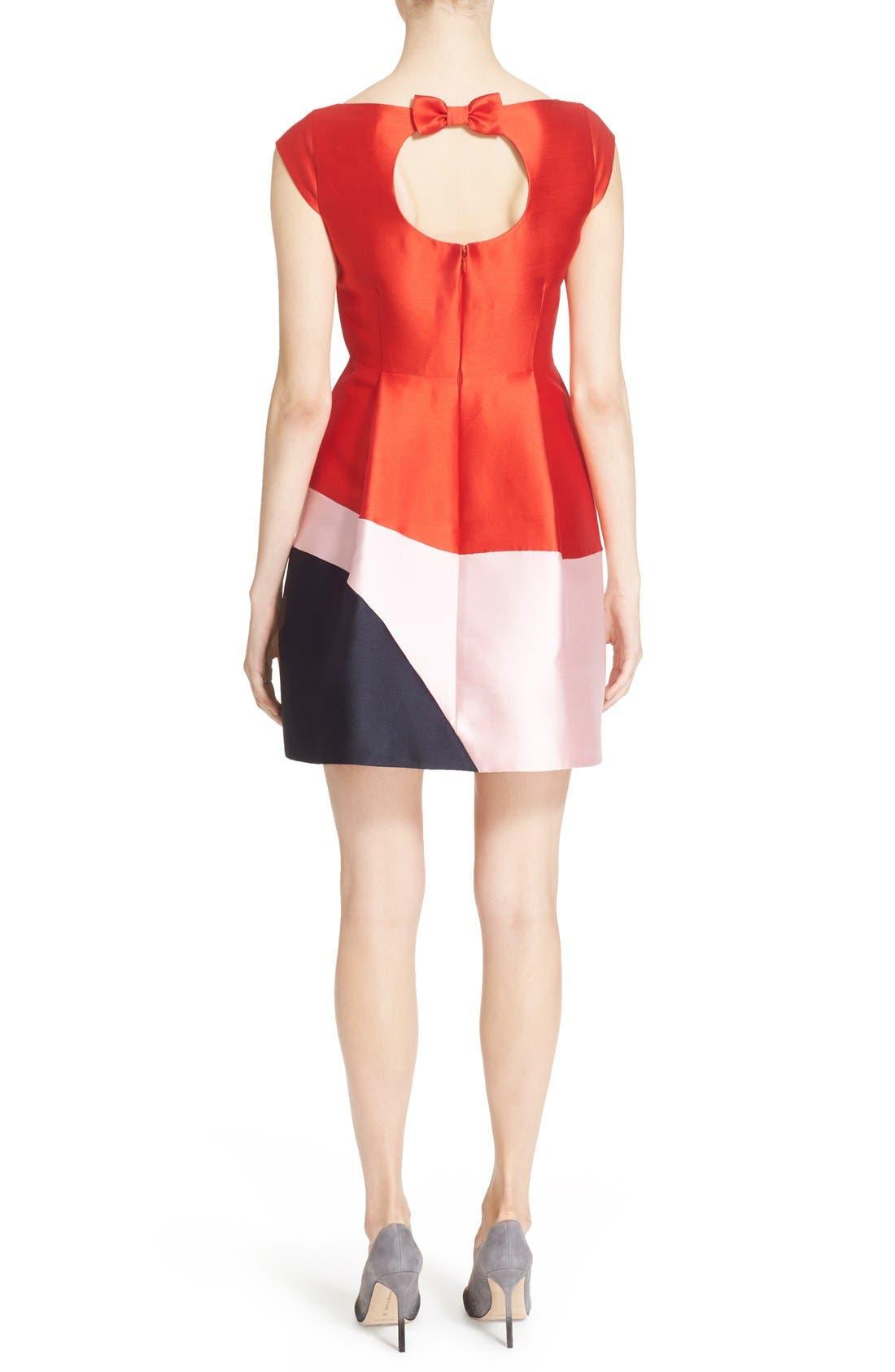 Alternate Image 2  - kate spade new york colorblock fit & flare dress