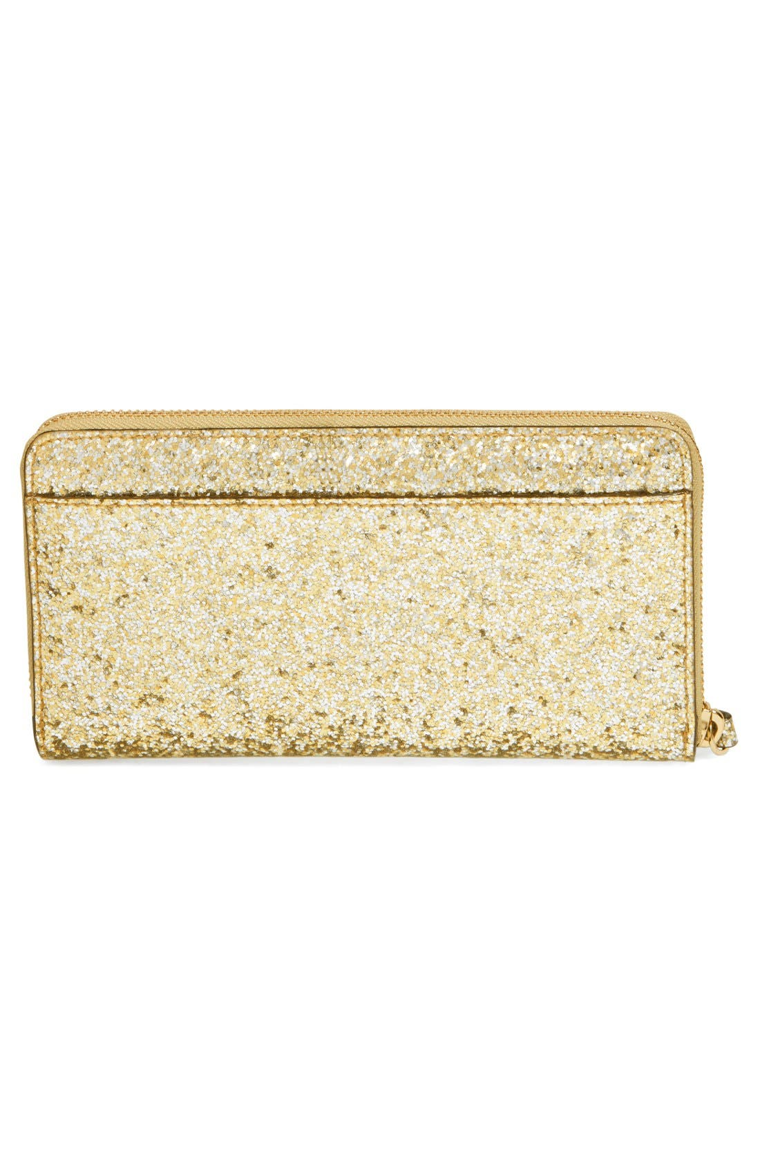 Alternate Image 3  - kate spade new york 'glitter bug - lacey' zip around wallet