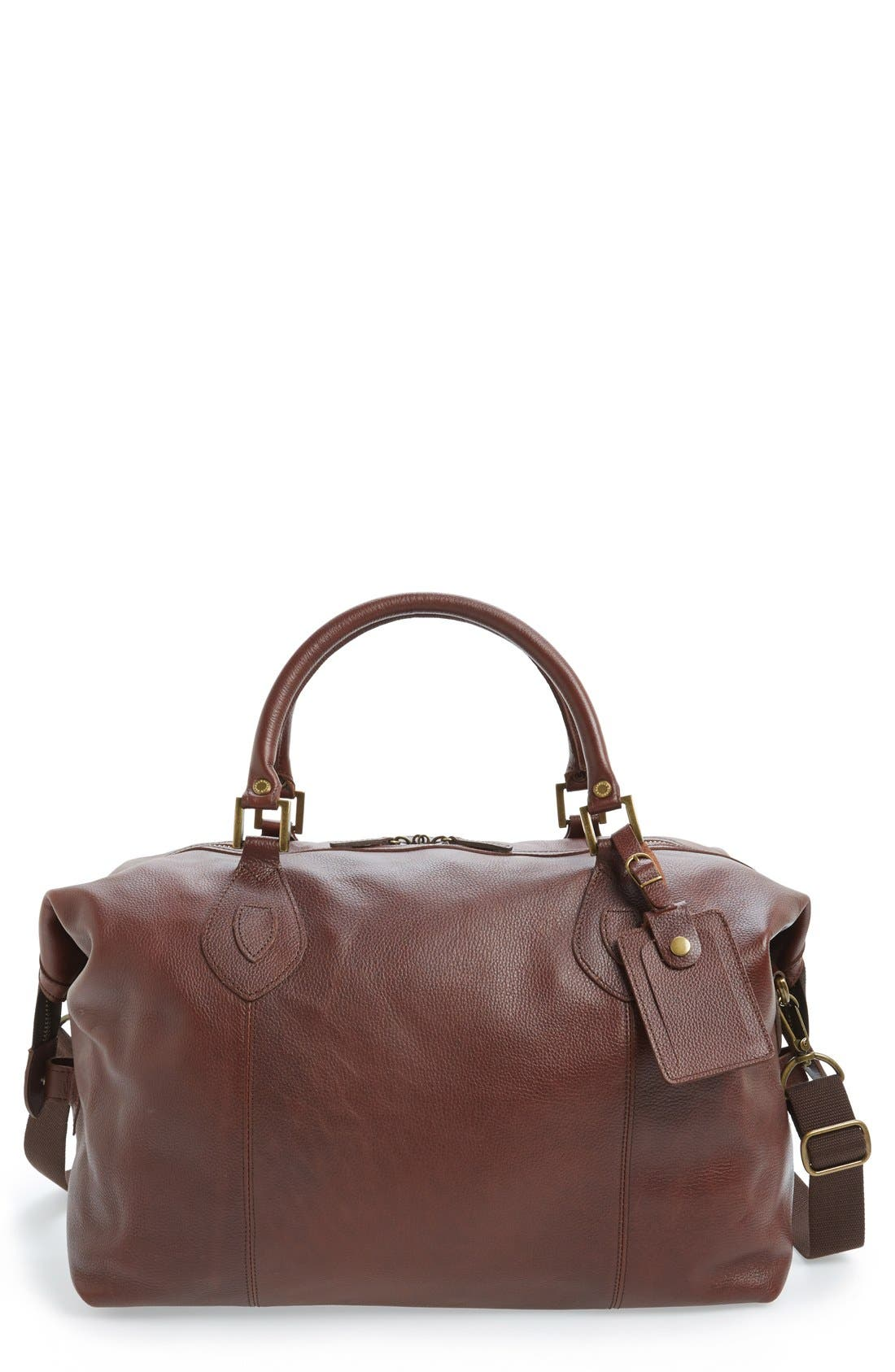 Alternate Image 1 Selected - Barbour Leather Travel Bag