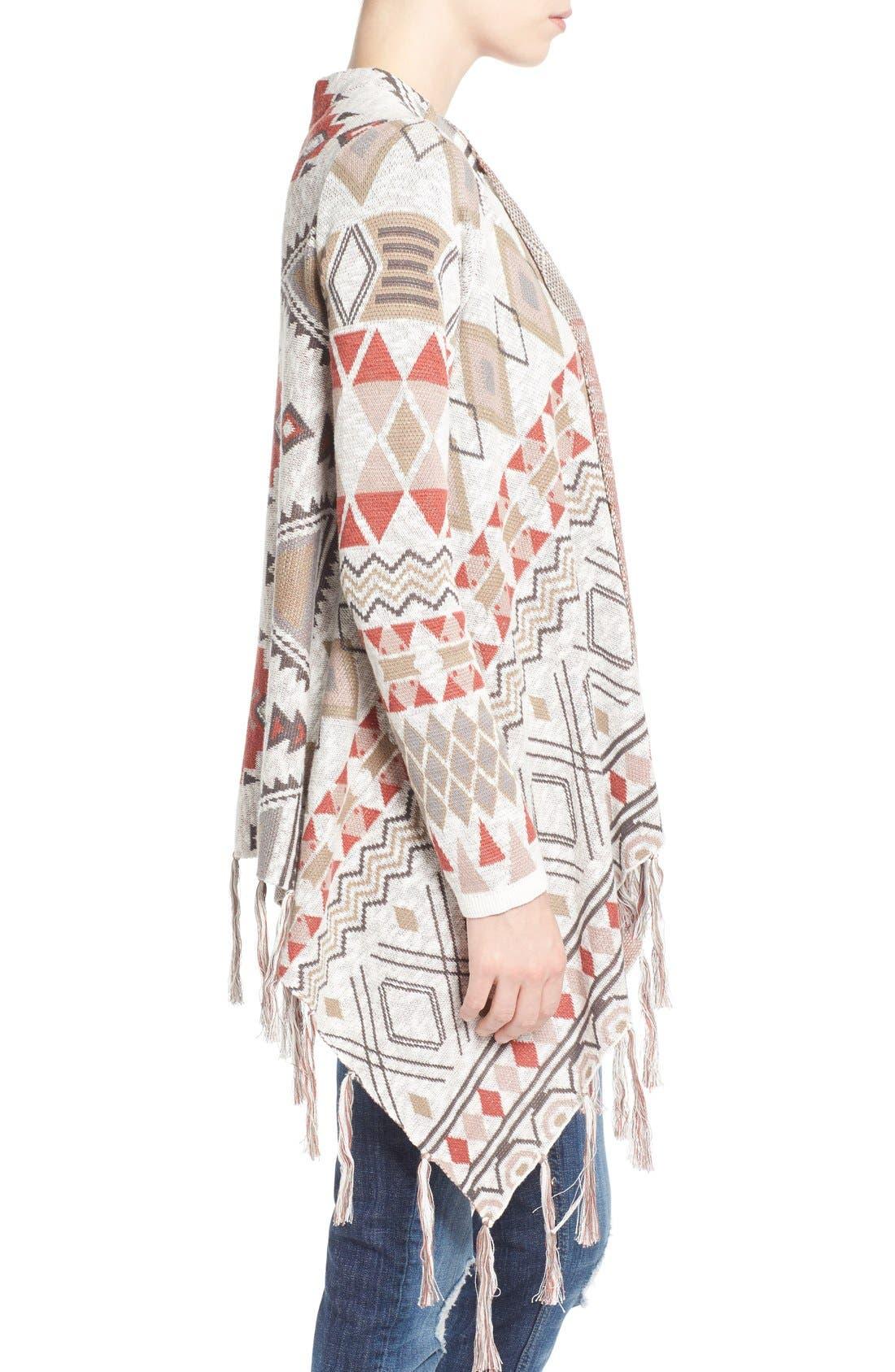 Alternate Image 3  - Sun & Shadow Blanket Cardigan