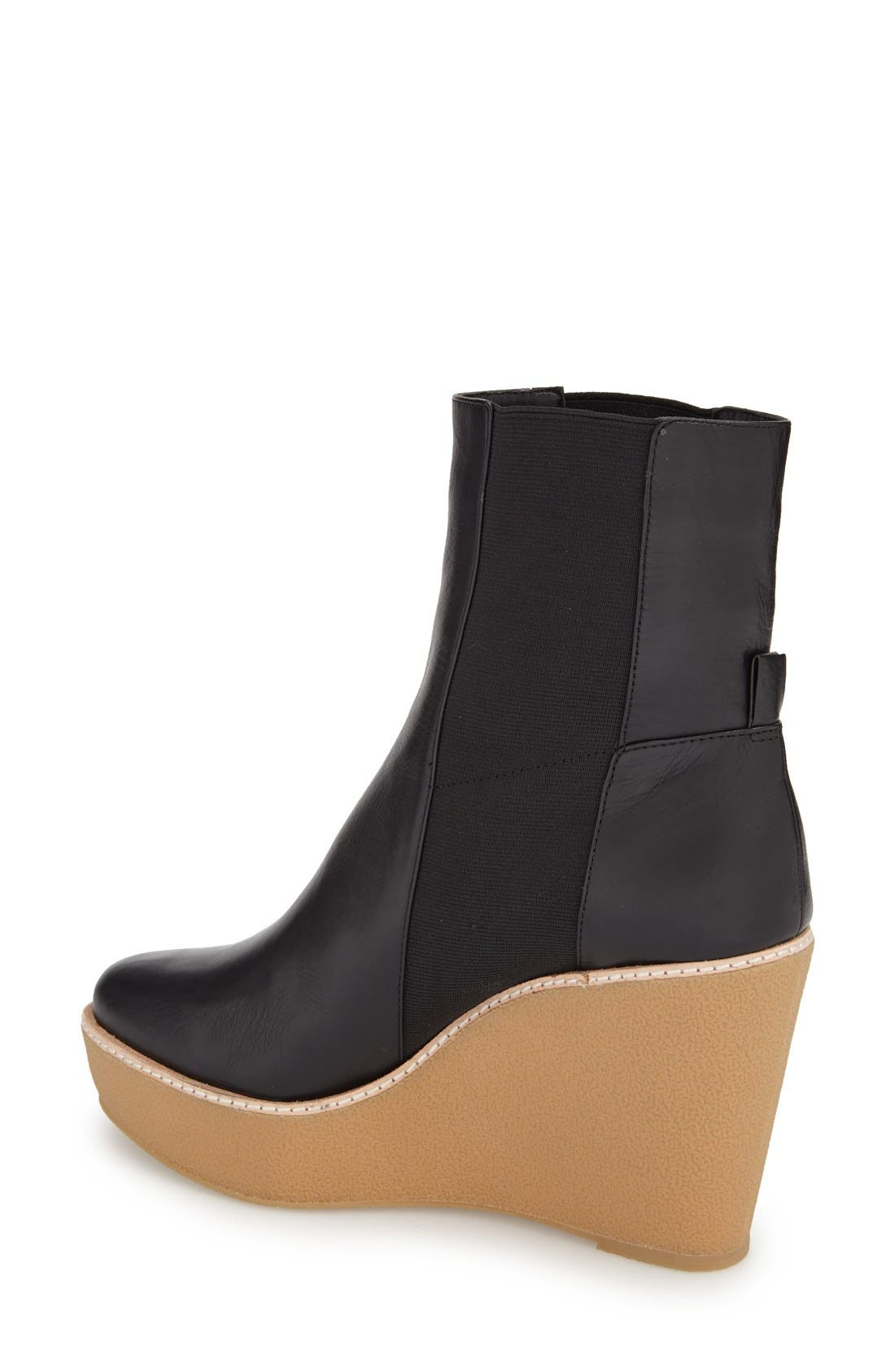 Alternate Image 2  - Derek Lam 10 Crosby 'Sandy' Almond Toe Wedge Bootie (Women)