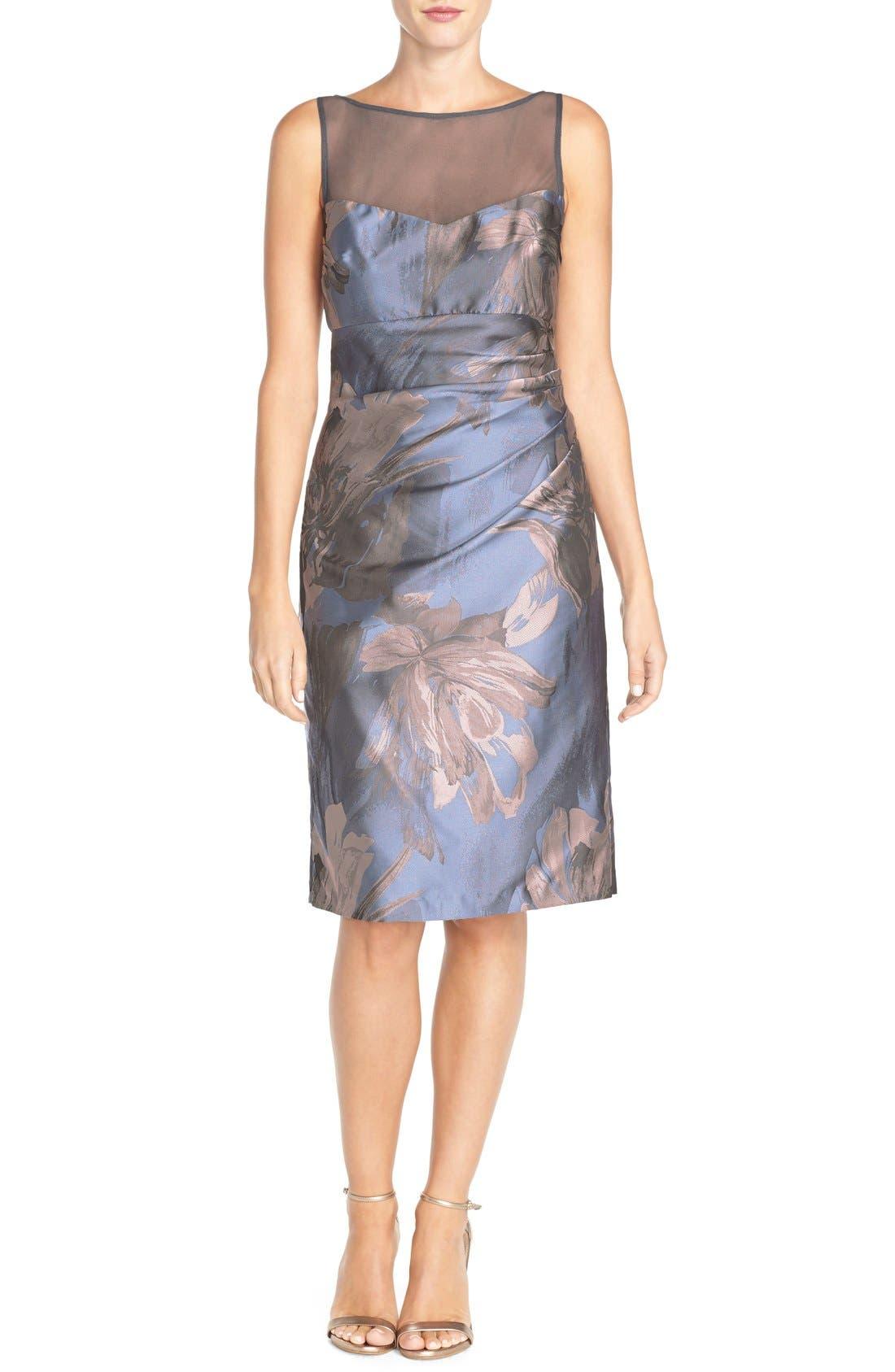Alternate Image 5  - Maggy London 'Splash' Floral Jacquard Sheath Dress (Regular & Petite)