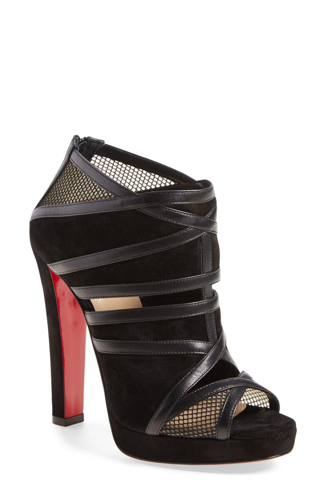 Alternate Image 1 Selected - Christian Louboutin 'Cammandanta' Open Toe Platform Sandal