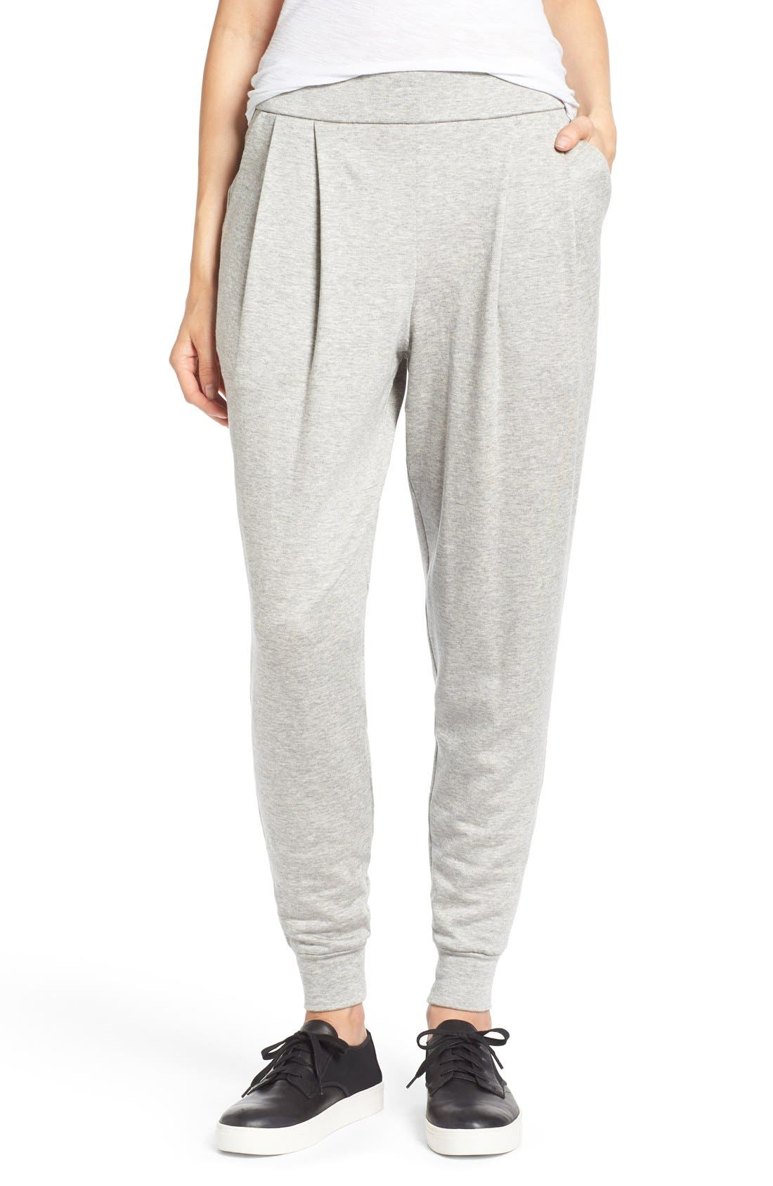 Alternate Image 1 Selected - Eileen Fisher Slouchy Pleat Front Ankle Pants