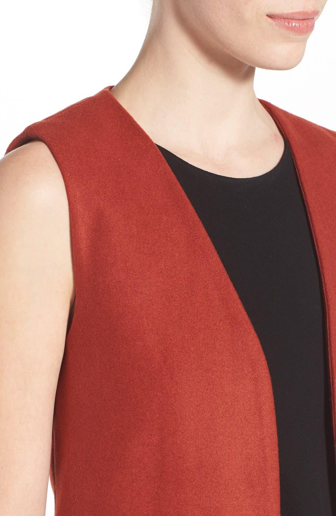 Alternate Image 4  - Missguided Sleeveless Long Blazer