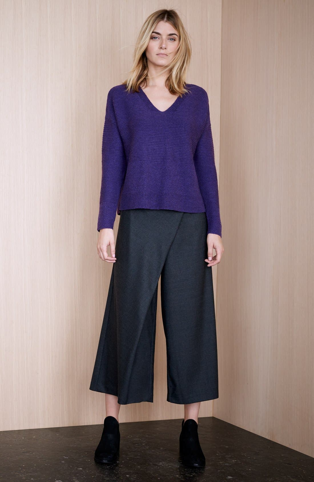 Alternate Image 6  - Eileen Fisher Wool Twill Sarong Pants  (Regular & Petite)