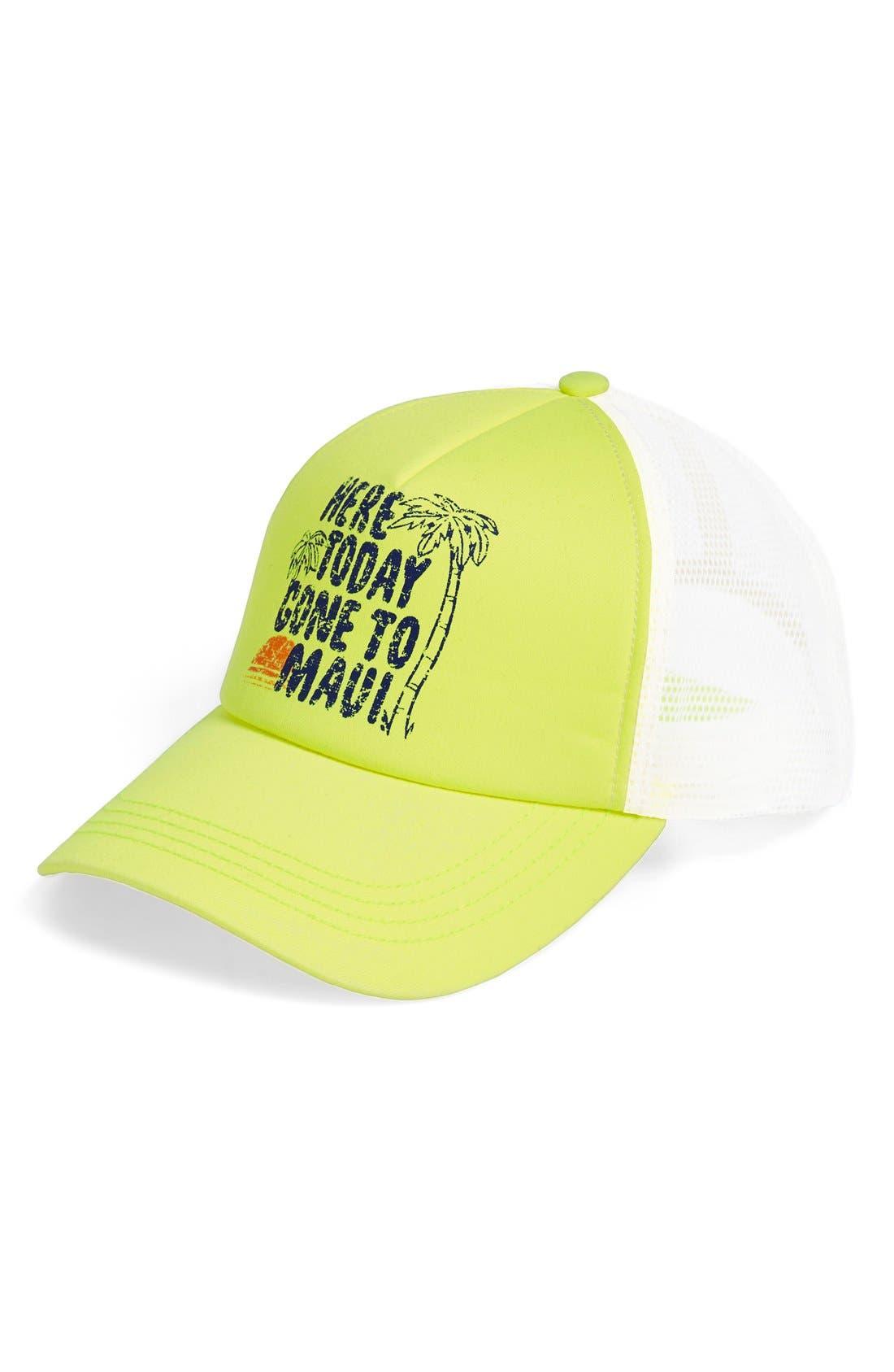 Alternate Image 1 Selected - Billabong Graphic Mesh Back Trucker Hat