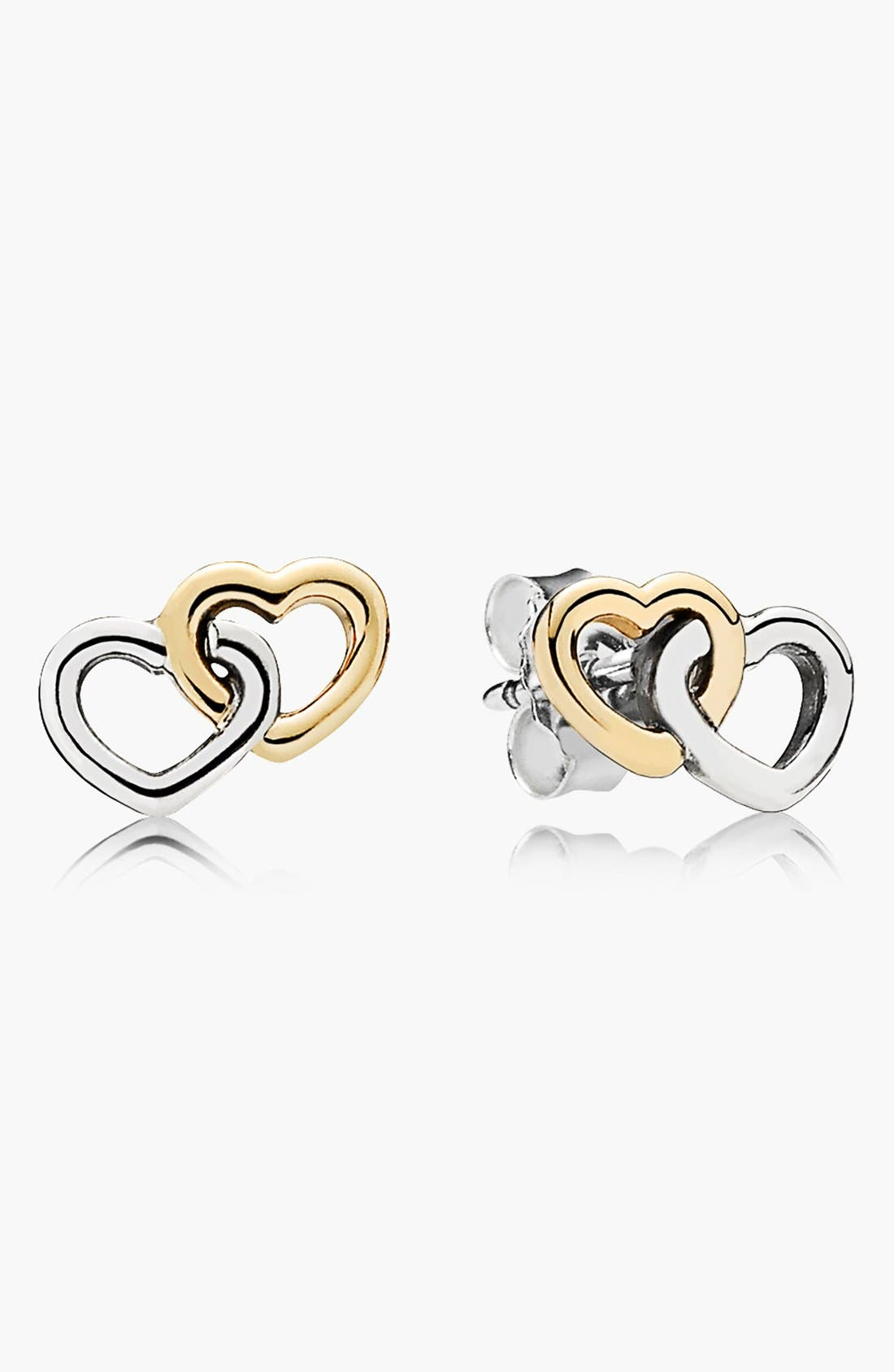 Main Image - PANDORA 'Heart to Heart' Stud Earrings